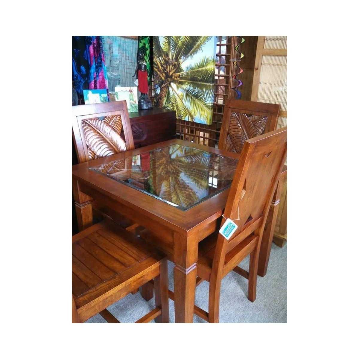 Bali Carved Dining Table At Elementfinefurniture Hand Made Solid For Best And Newest Bali Dining Tables (Gallery 2 of 25)