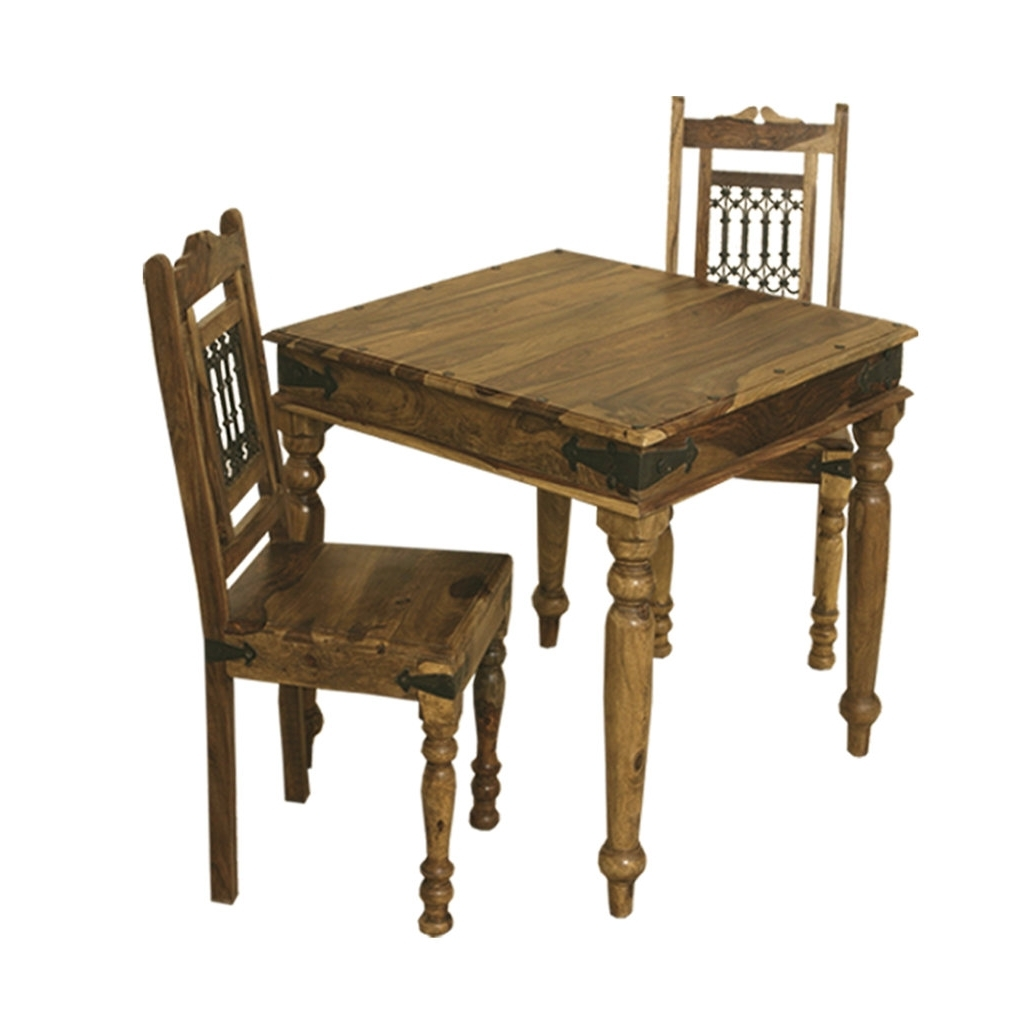 Bali Sheesham 90 X 90 Compact Square Dining Table With Regard To Trendy Compact Dining Tables (View 4 of 25)