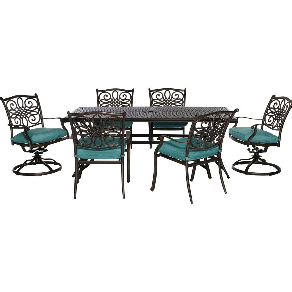 Bar Height – Wicker Patio Furniture – Outdoor Bar Furniture – Patio For Favorite Delfina 7 Piece Dining Sets (View 4 of 25)