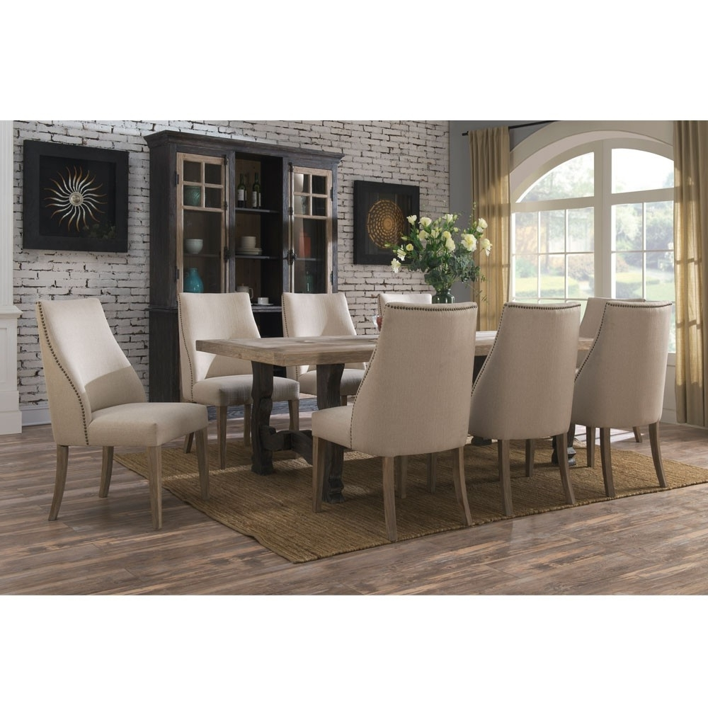 Barcelona Wood Rectangular Dining Table In Sandstone (View 2 of 25)