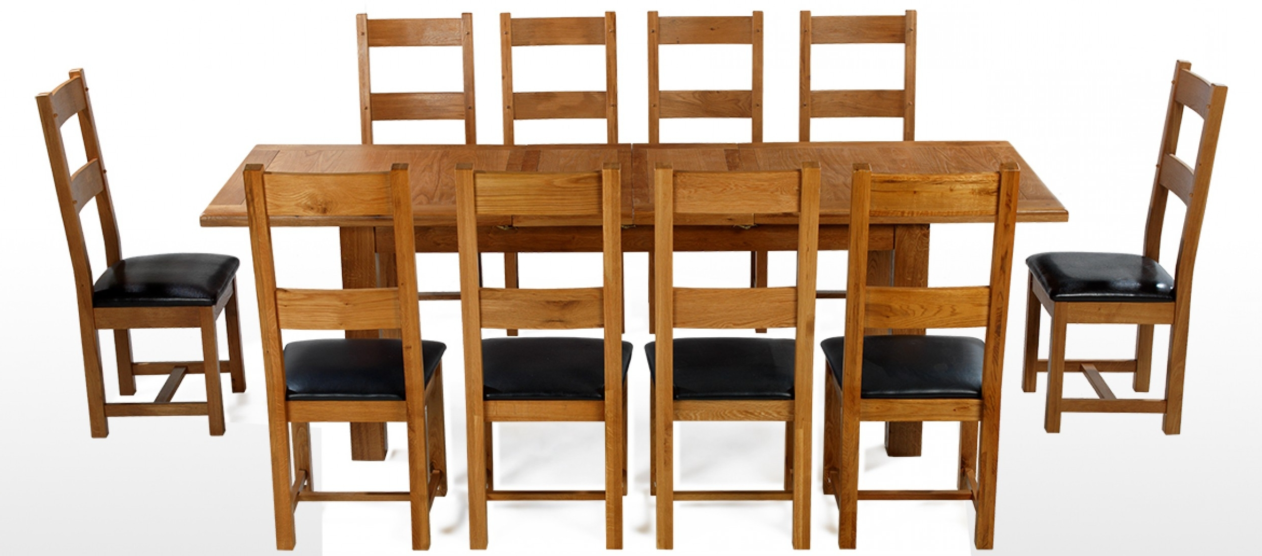 Barham Oak 180 250 Cm Extending Dining Table And 10 Chairs Velvet Intended For Well Known Dining Table And 10 Chairs (View 25 of 25)