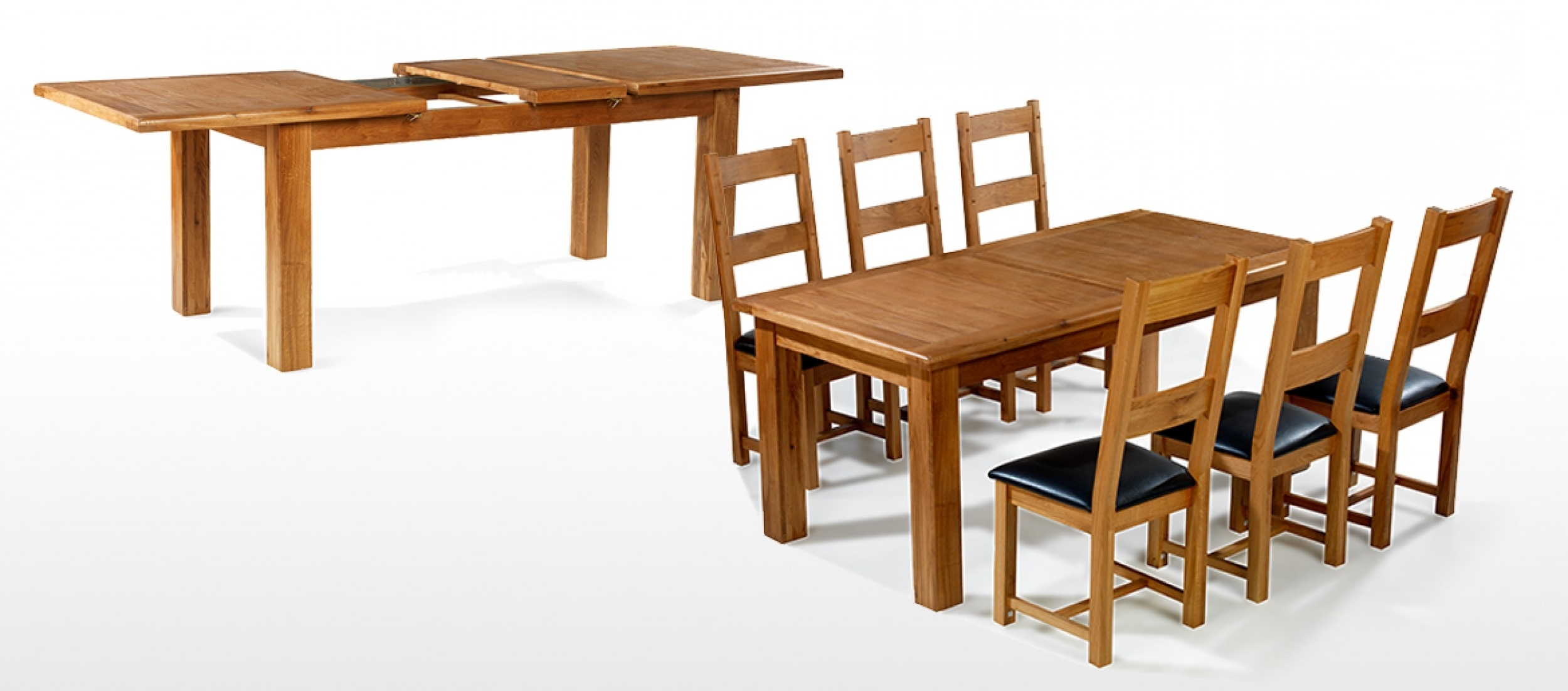 Barham Oak 180 250 Cm Extending Dining Table And 6 Chairs (View 9 of 25)