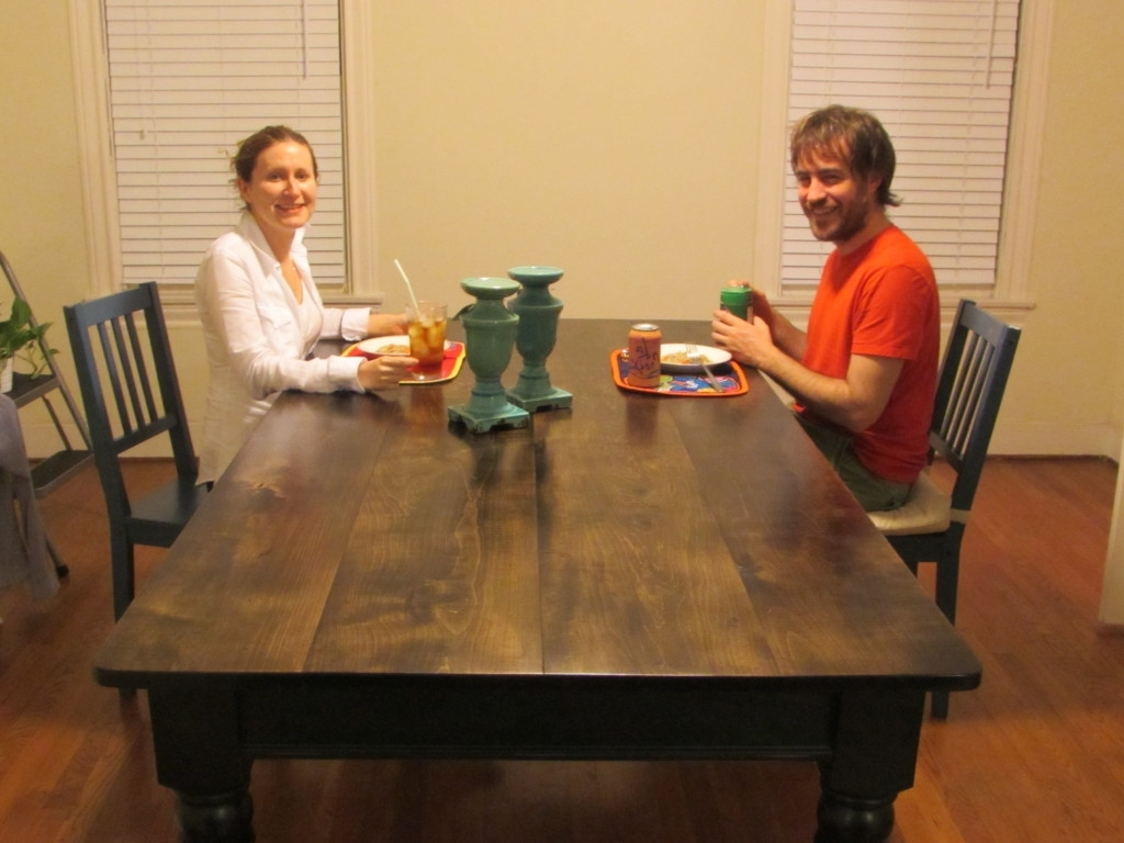 """Barn House Dining Tables In Recent A New Handmade """"aged Maple"""" Top Farm House Dining Table (View 22 of 25)"""