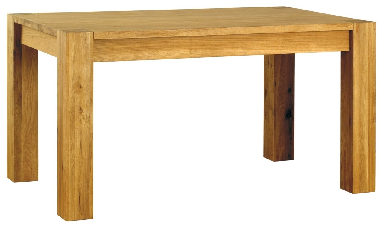 Baumhaus Aston Oak Dining Table (4 6 Seater) From The Bed Station With Recent Oak 6 Seater Dining Tables (View 9 of 25)