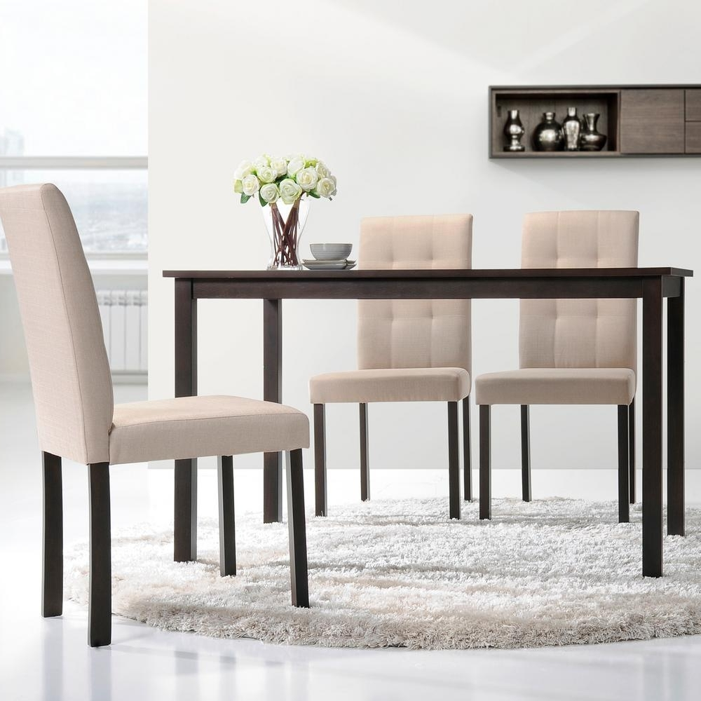 Baxton Studio Andrew Dark Brown Wood Dining Table 28862 5255 Hd For Popular Dark Wood Dining Room Furniture (Gallery 14 of 25)