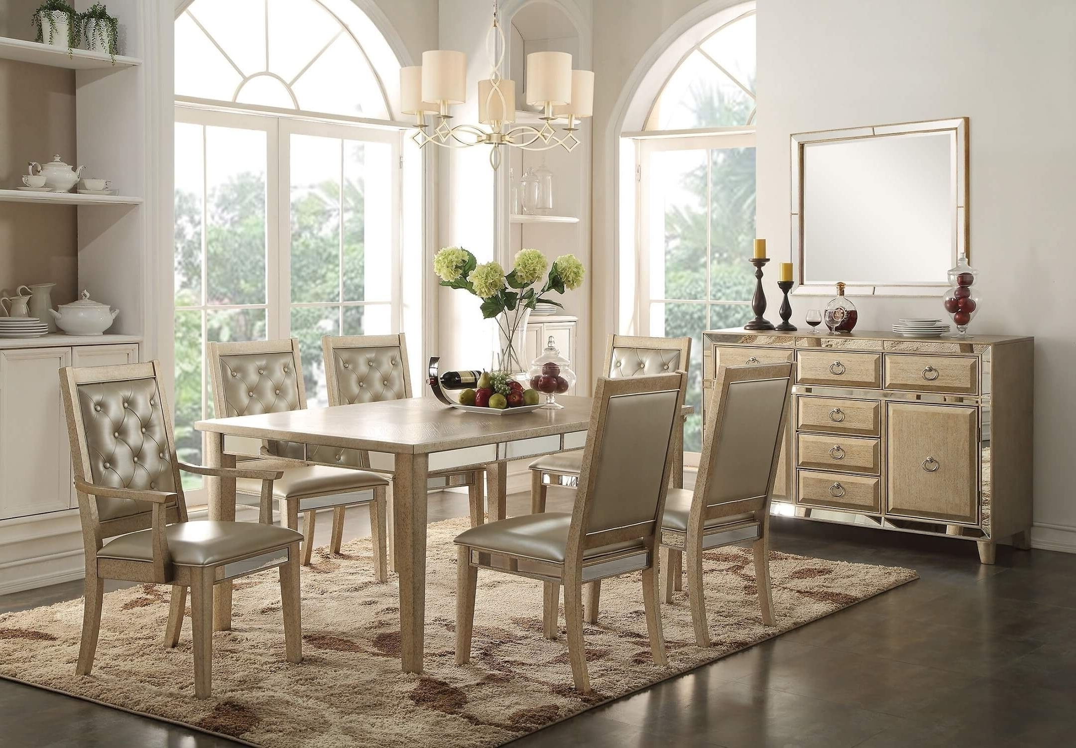 Beautiful Sophie Mirrored Dining Table Within Most Recent Mirrored Dining Tables (View 5 of 25)