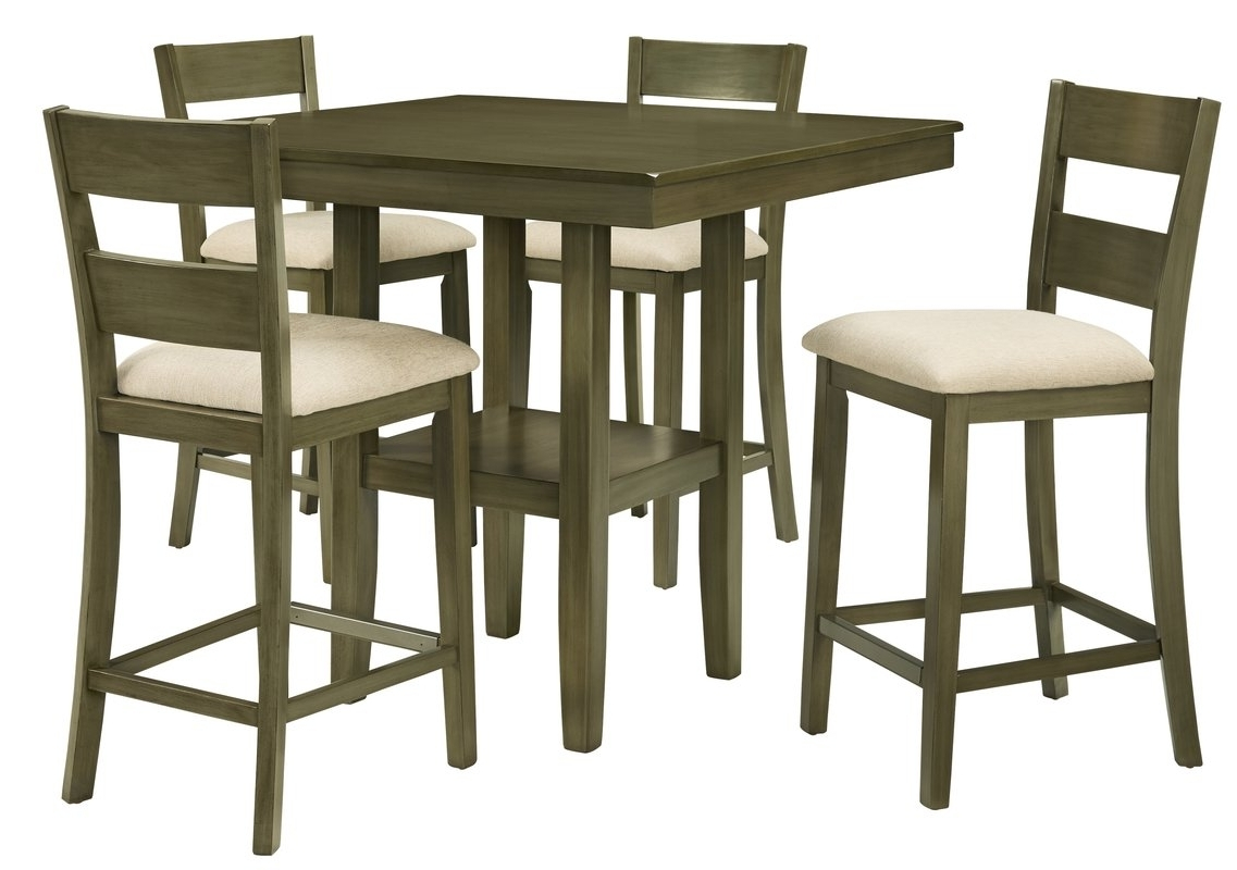 Beautiful Table Runners And Counter High Table And Chairs – Arvesi Throughout Newest Rocco 9 Piece Extension Counter Sets (View 20 of 25)