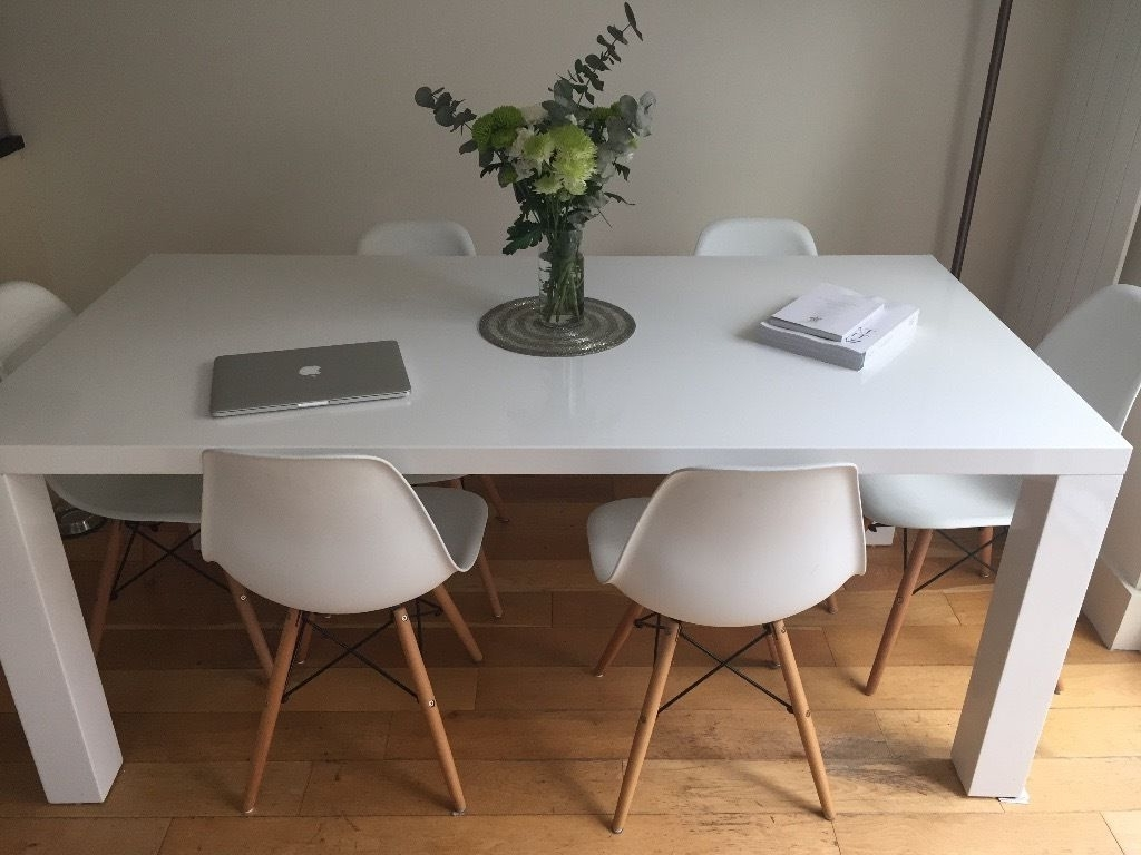 Beautiful White Gloss Dining Room Table – Esescatrina In Well Known White Gloss Dining Furniture (View 17 of 25)
