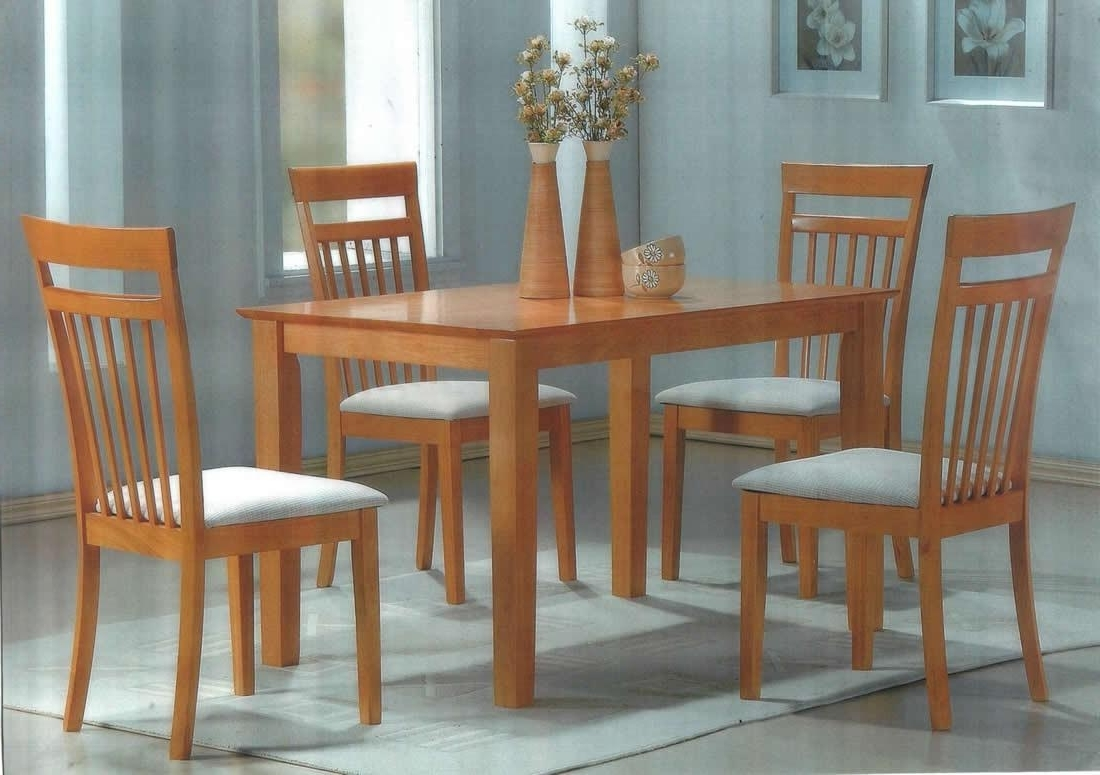 Beech Dining Tables And Chairs With Regard To Famous Birnkak Beech Dining Set Table And 4 Padded Chairs (Gallery 2 of 25)