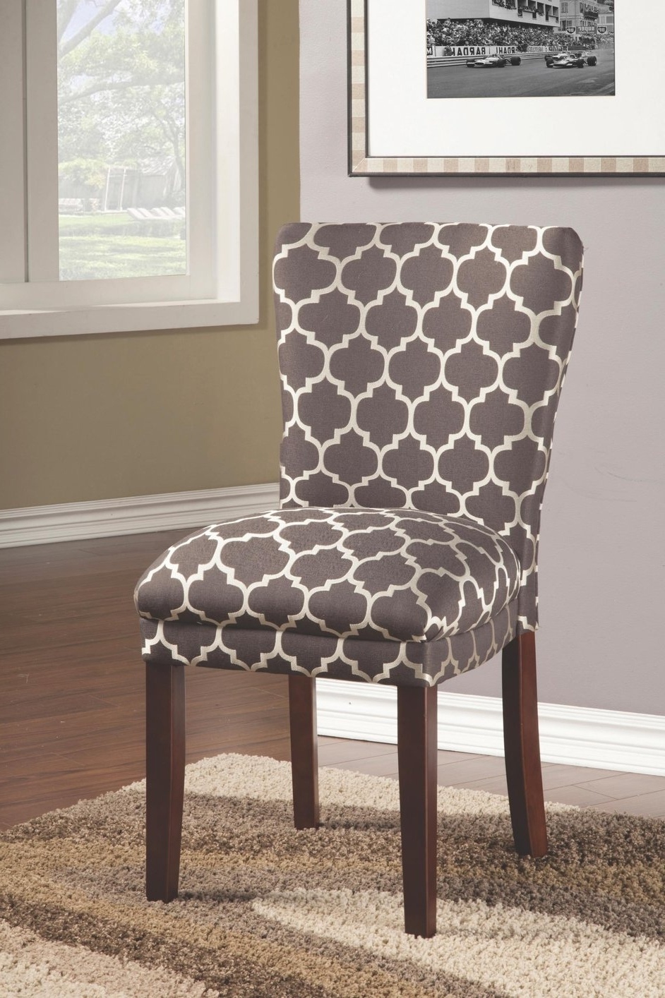 Beige Fabric Dining Chair – Steal A Sofa Furniture Outlet Los Angeles Ca Throughout Newest Fabric Covered Dining Chairs (View 2 of 25)