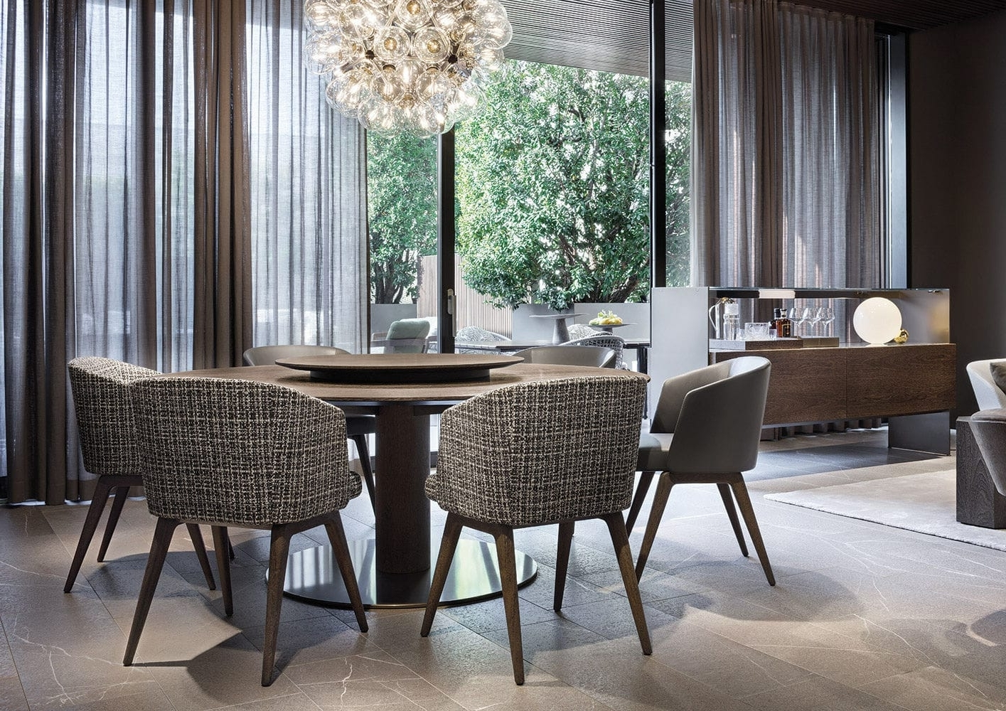 Bellagio Dining Tables Intended For Fashionable Contemporary Dining Table / Wooden / Metal / Rectangular – Bellagio (View 10 of 25)