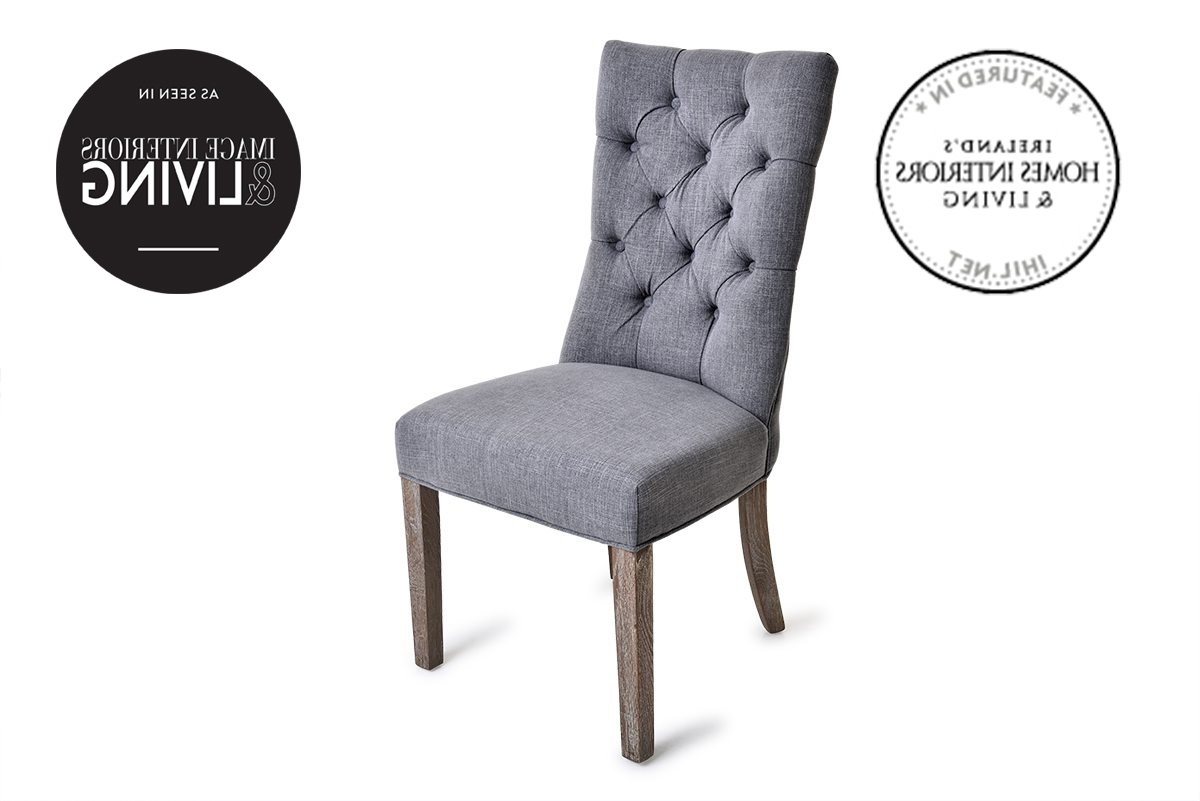 Bellini Dining Chair Grey With Washed Oak Leg – Furniture Stores Ireland Intended For Most Up To Date Grey Dining Chairs (View 2 of 25)