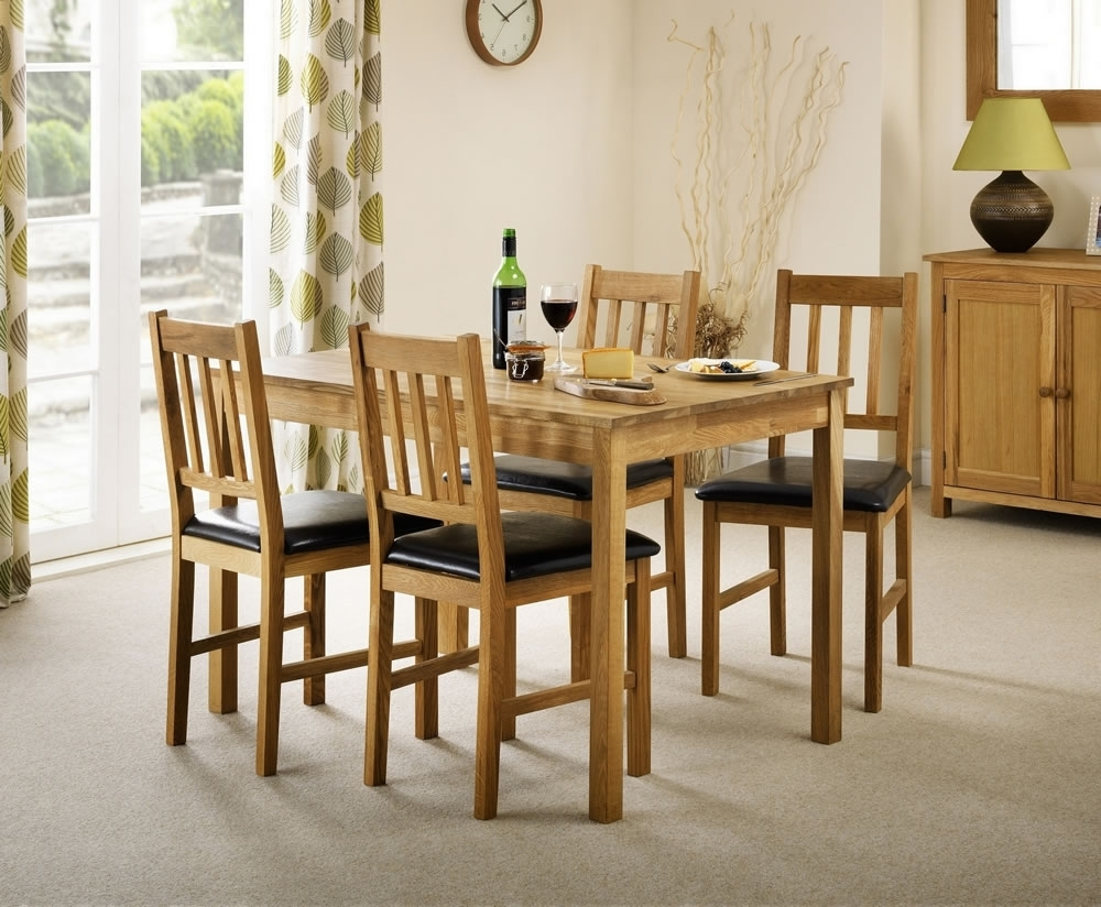 Belstone Solid Oak Dining Table And Chairs – Uk Delivery Throughout Most Recently Released Oak Dining Tables Sets (View 3 of 25)