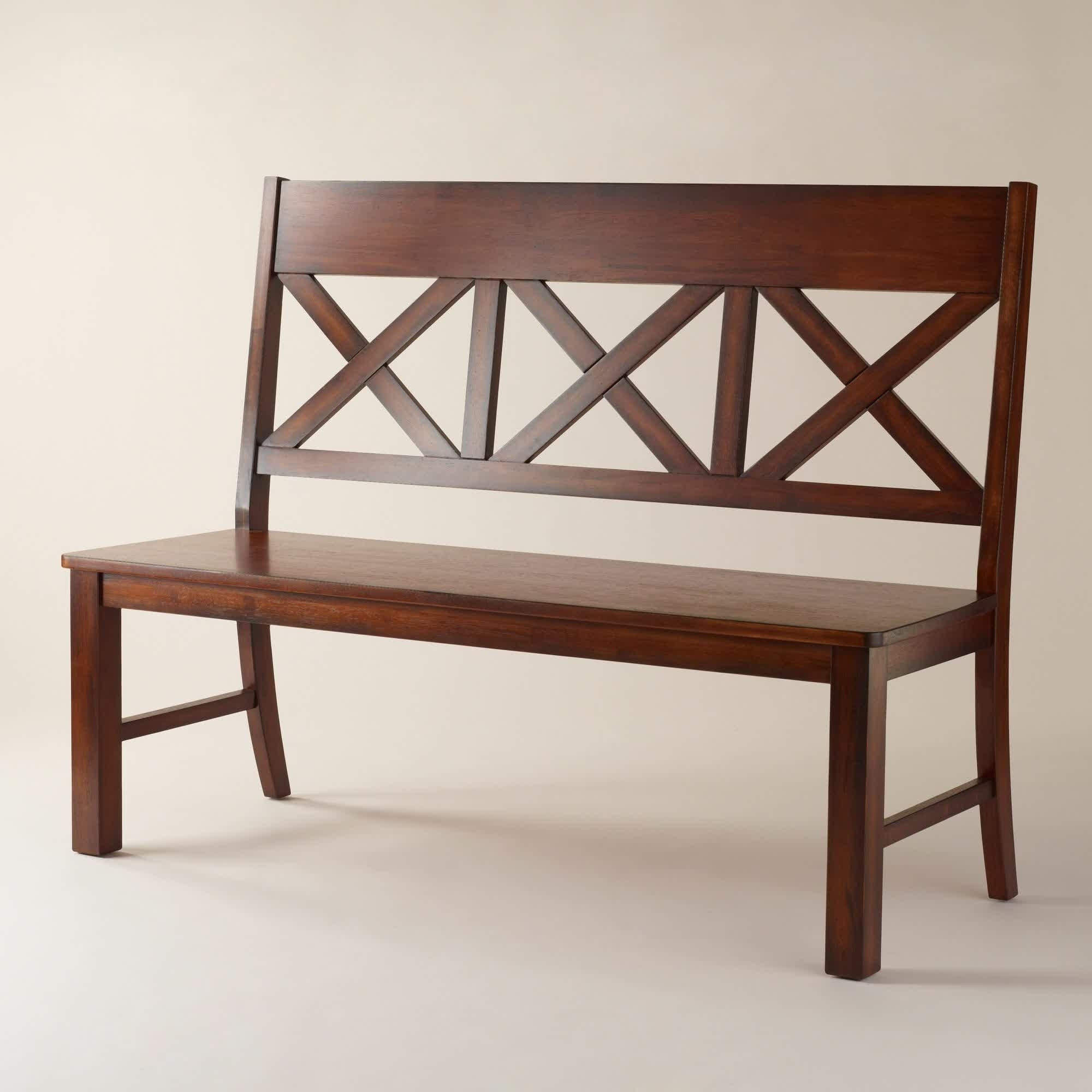 Bench In 2018 With Regard To Popular Bench With Back For Dining Tables (View 15 of 25)