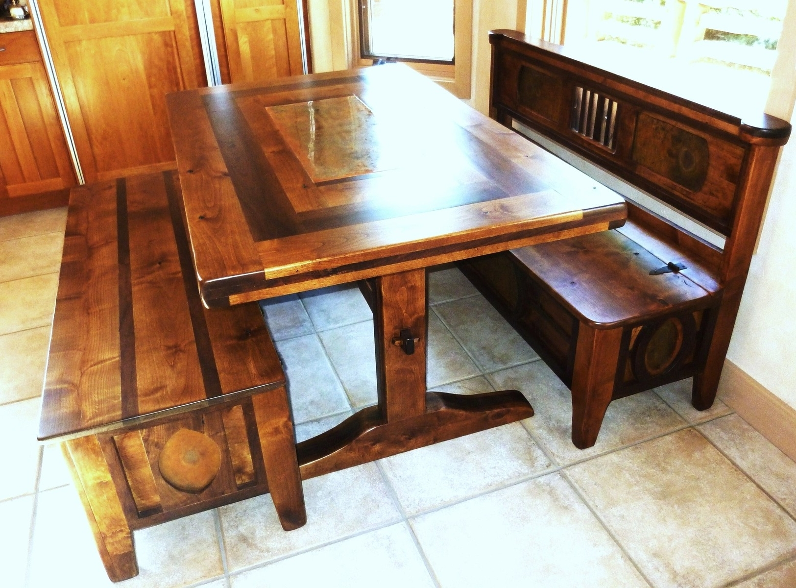 Bench With Back For Dining Tables Throughout Well Known Nice Looking Diy Kitchen Table Bench And Probably Super Awesome (View 5 of 25)
