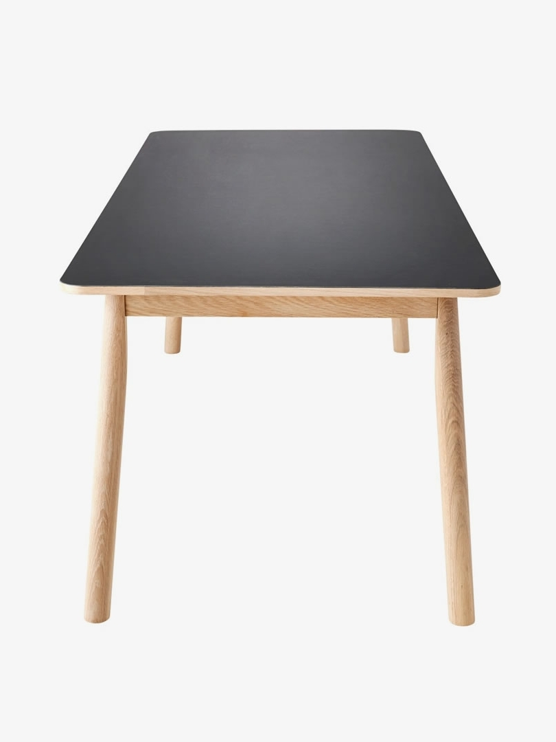 Benington Pause Dining Table Black – Bazaar Pertaining To Most Up To Date Black Dining Tables (Gallery 18 of 25)