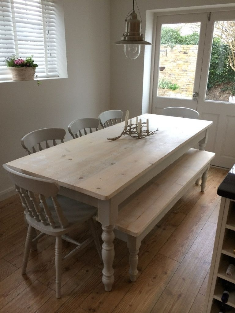 Bespoke Farmhouse Tables Made From Reclaimed Pine In Warwickshire Inside Popular Farm Dining Tables (View 19 of 25)