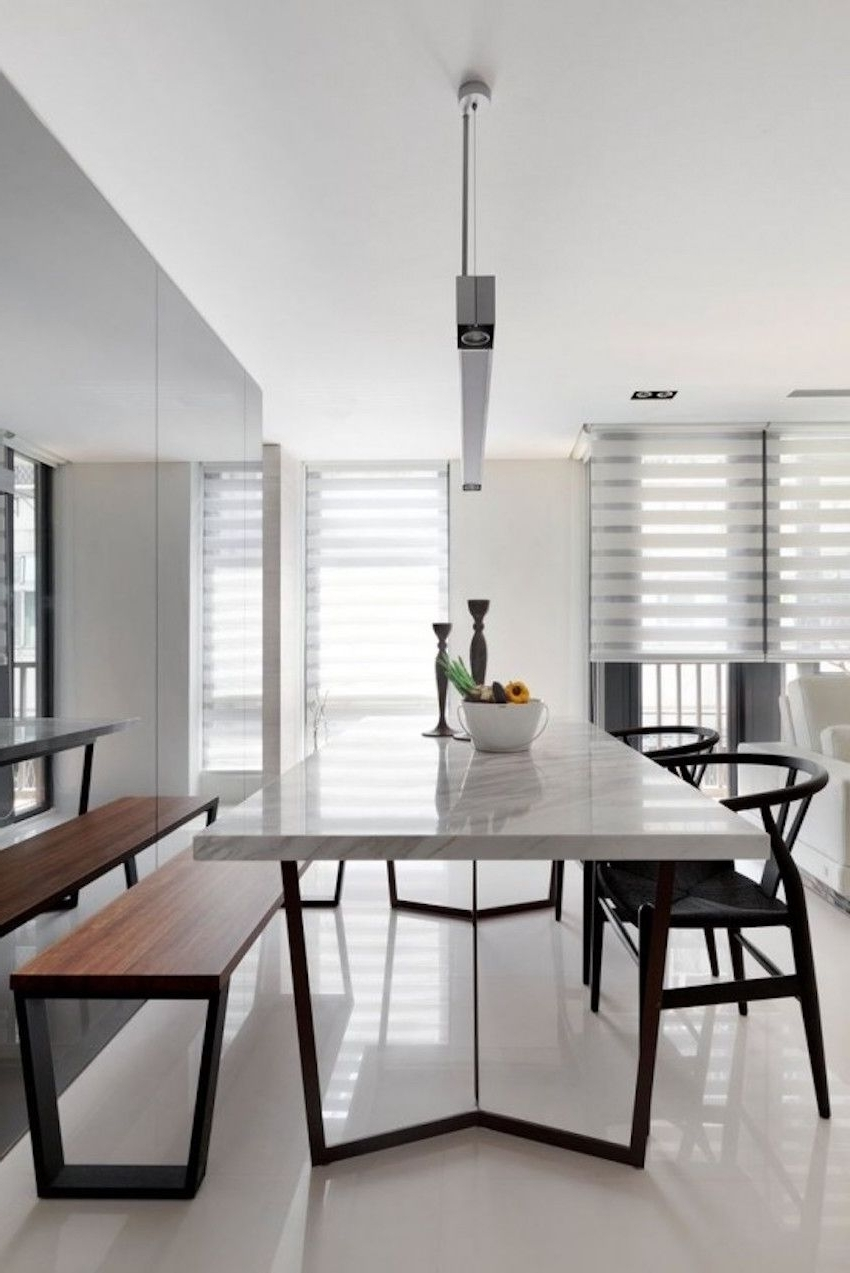 Best And Newest 25 Timeless Minimalist Dining Rooms With Modern Dining Tables For Modern Dining Suites (View 3 of 25)