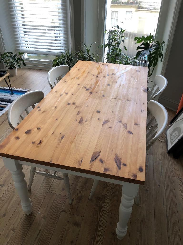 Best And Newest 3Ft Dining Tables Intended For Pine Dining Table 6Ft X 3Ft And Four Chairs (Gallery 15 of 25)