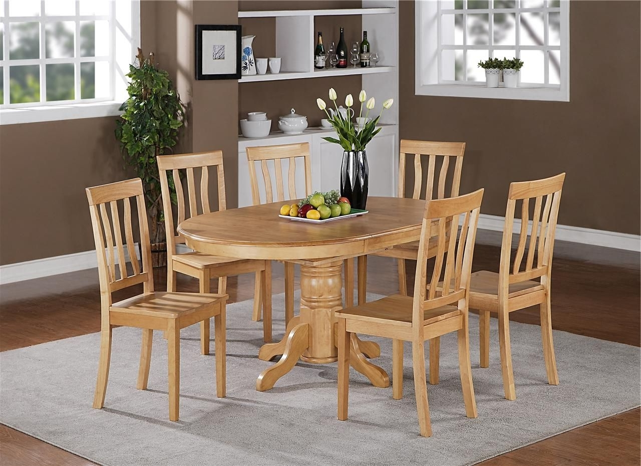 Best And Newest 5Pc Oval Dinette Kitchen Dining Set Table With 4 Wood Seat Chairs In Regarding Candice Ii 5 Piece Round Dining Sets With Slat Back Side Chairs (View 1 of 25)