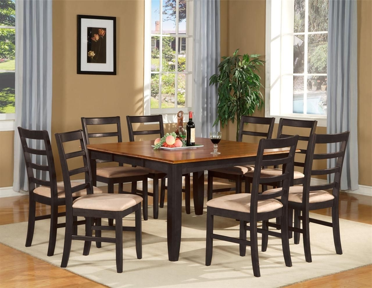 Best And Newest 9 Pc Square Dinette Dining Room Table Set And 8 Chairs (Gallery 24 of 25)