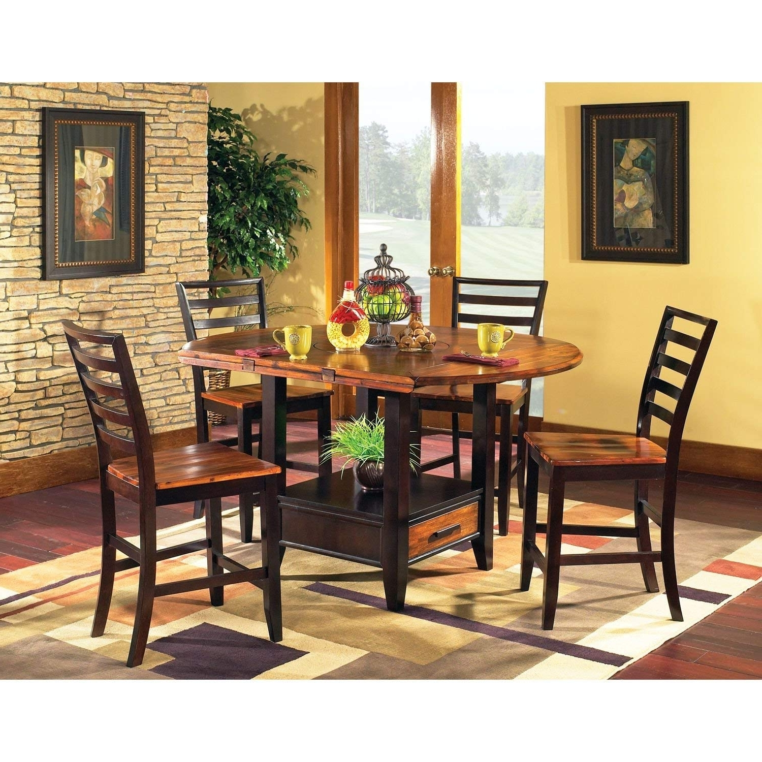 Best And Newest Amazon – Counter Height Dining Setlauren Wells Pierson 5 Within Laurent 7 Piece Rectangle Dining Sets With Wood Chairs (View 7 of 25)