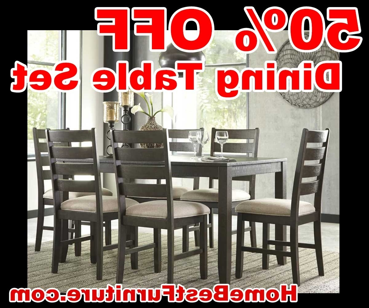 Best And Newest Caira 9 Piece Extension Dining Sets Pertaining To 50 Percent Off Discount Ashley Rokane 7 Piece Dining Set Reviews (Gallery 21 of 25)