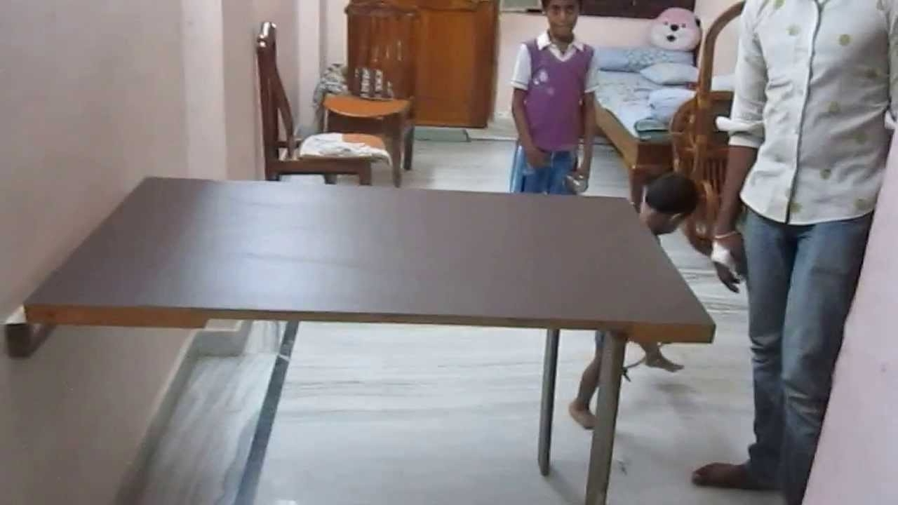 Best And Newest Cheap Folding Dining Tables Inside My New Folding Dining Table – Youtube (Gallery 25 of 25)