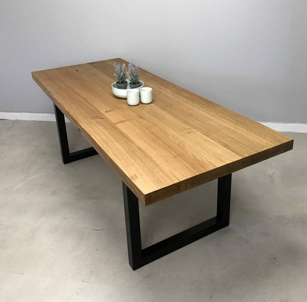 Best And Newest Cheap Oak Dining Tables Intended For Block' Solid Oak Dining Tablerevive Joinery (View 4 of 25)