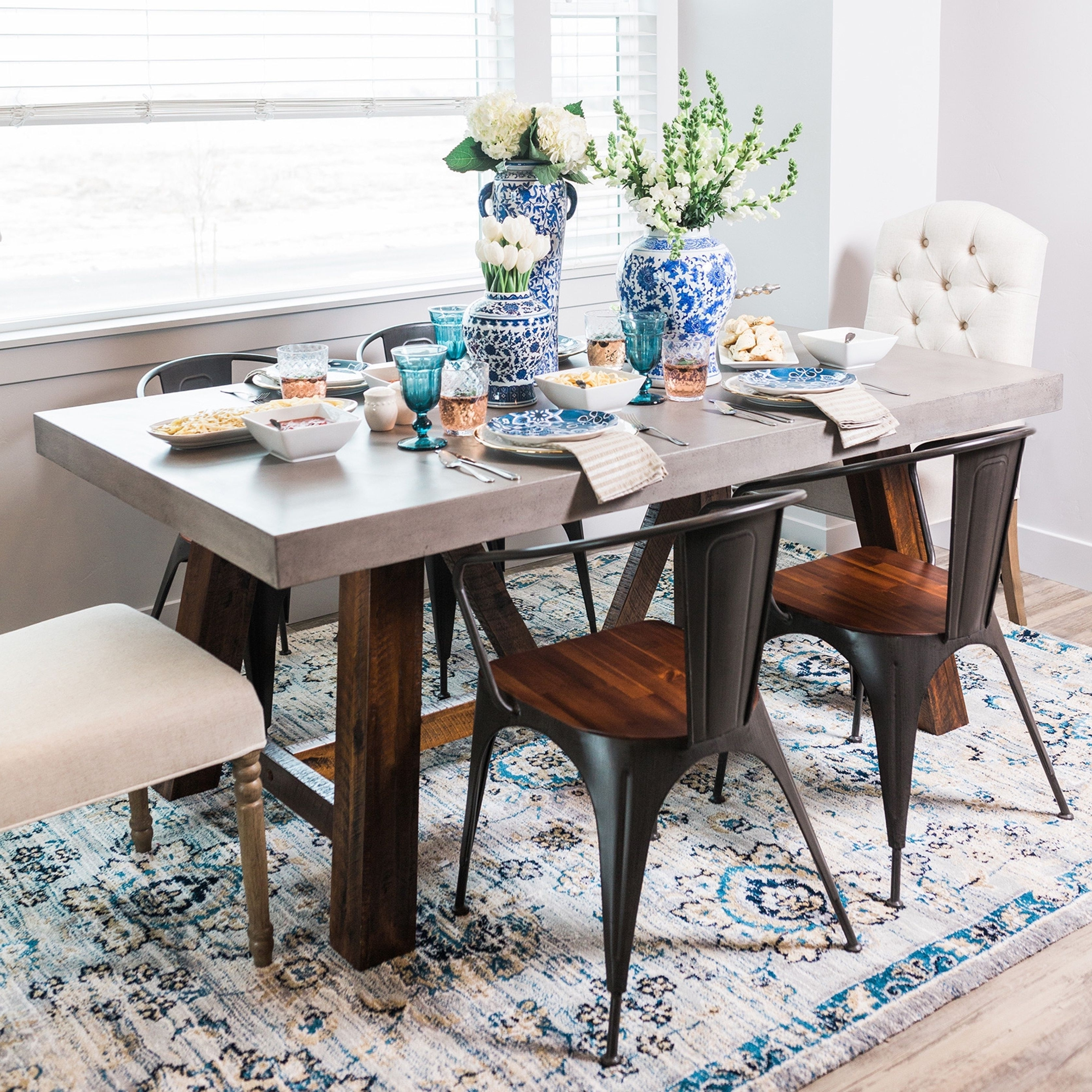 Best And Newest Cooper Dining Tables Within Hickory And Tweed Cooper Rectangular Concrete Dining Table (Grey (Gallery 17 of 25)
