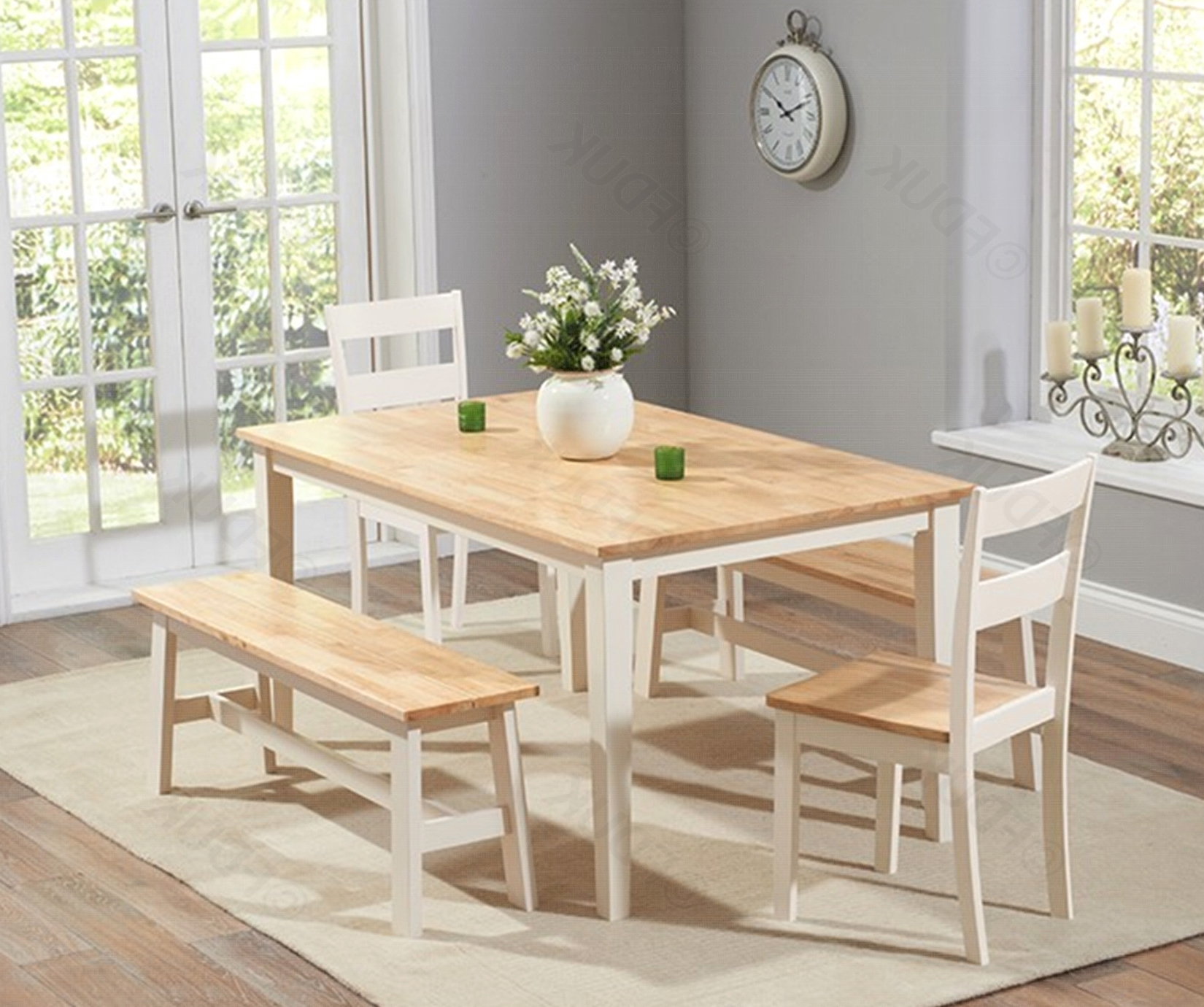 Best And Newest Cream And Wood Dining Tables Intended For Mark Harris Chichester (View 3 of 25)