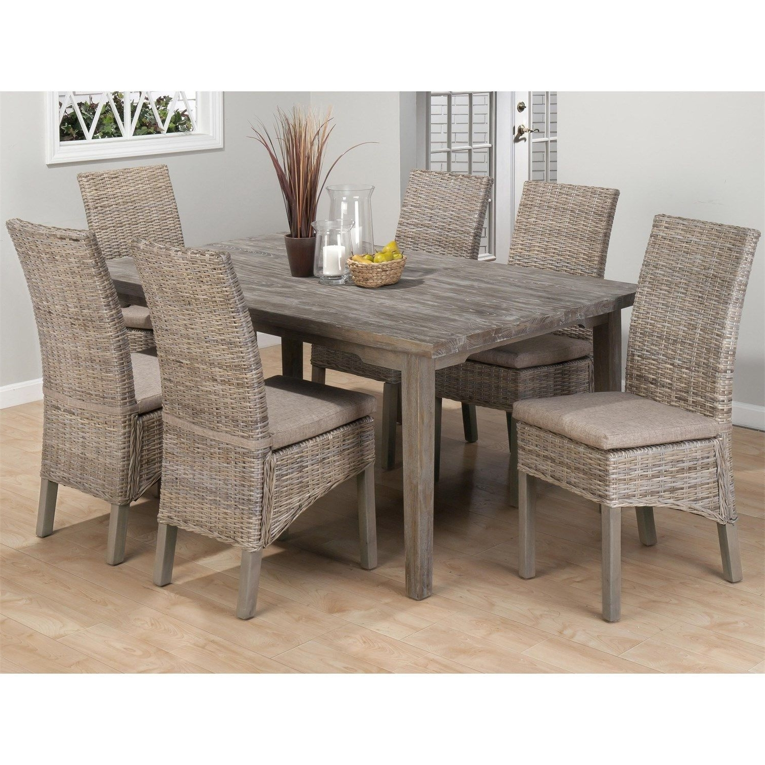 Best And Newest Dining Room Rattan Sofa Set With Table Dining Room Set With Wicker Within Rattan Dining Tables And Chairs (View 5 of 25)
