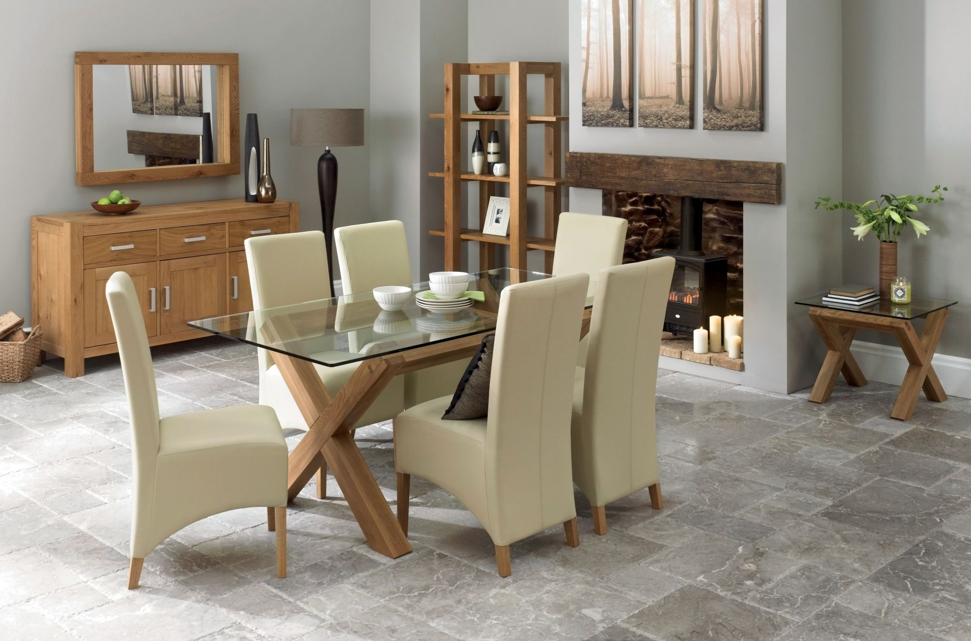 Best And Newest Dining Tables And Six Chairs Pertaining To Lyon 6 8 Double End Extending Table (View 12 of 25)