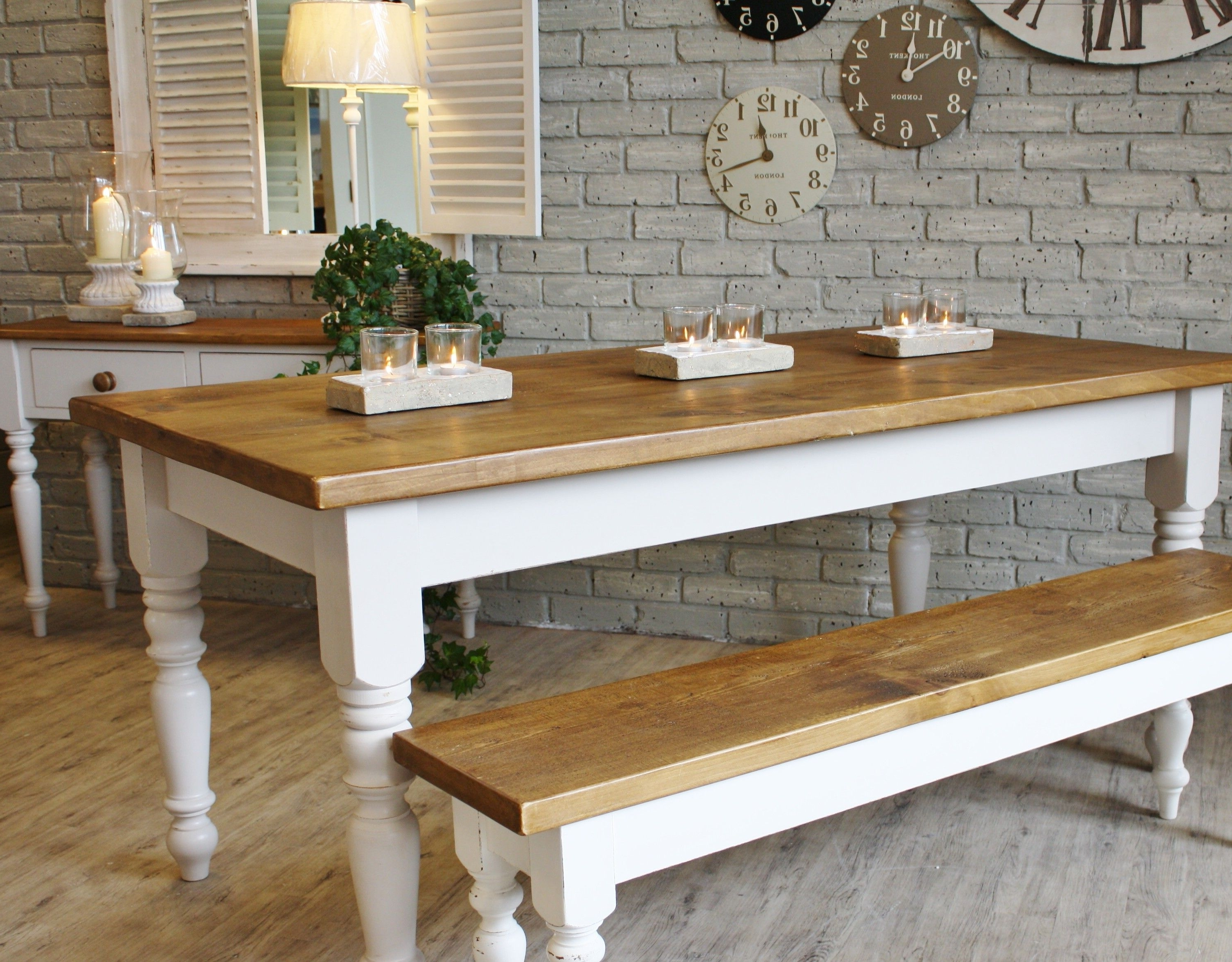 Best And Newest Dining Tables With White Legs And Wooden Top Within Amish Kitchen Base Cabinets Farmhouse Ottawa Rectangular Dining Room (View 2 of 25)