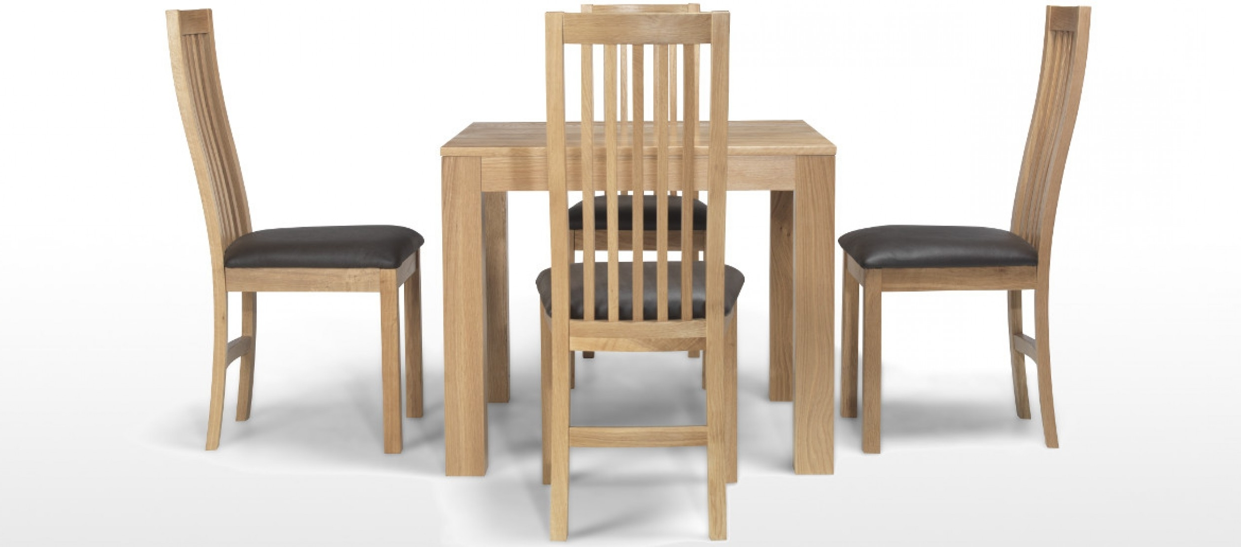 Best And Newest Extendable Dining Tables With 6 Chairs Inside Cube Oak 90 Cm Dining Table And 4 Chairs (View 15 of 25)