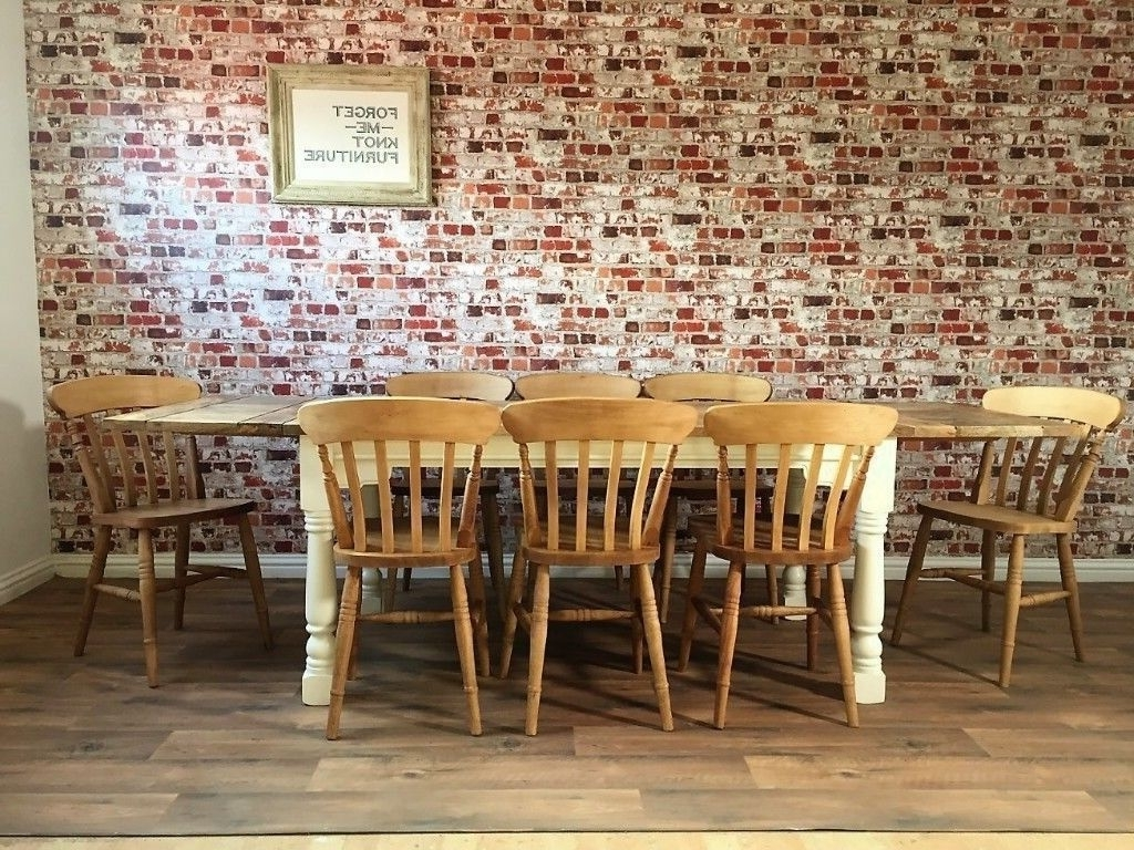 Best And Newest Extending Dining Table Sets With Regard To Up To Twelve Seater Rustic Farmhouse Extending Dining Table Set With (View 17 of 25)