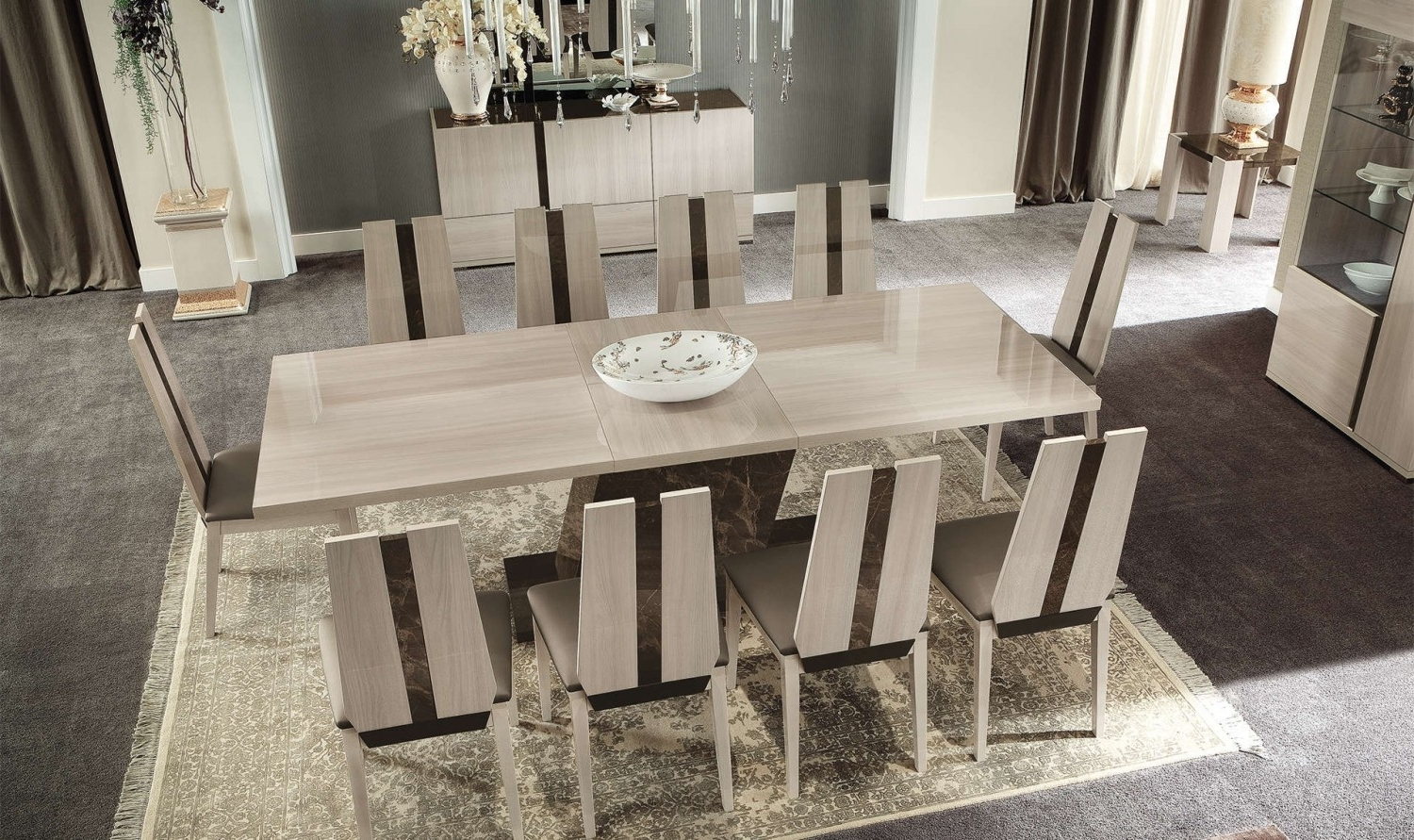 "Best And Newest Extending Dining Tables Set With Teodora 63"" Extendable Dining Tablealf Da Fre (Gallery 2 of 25)"