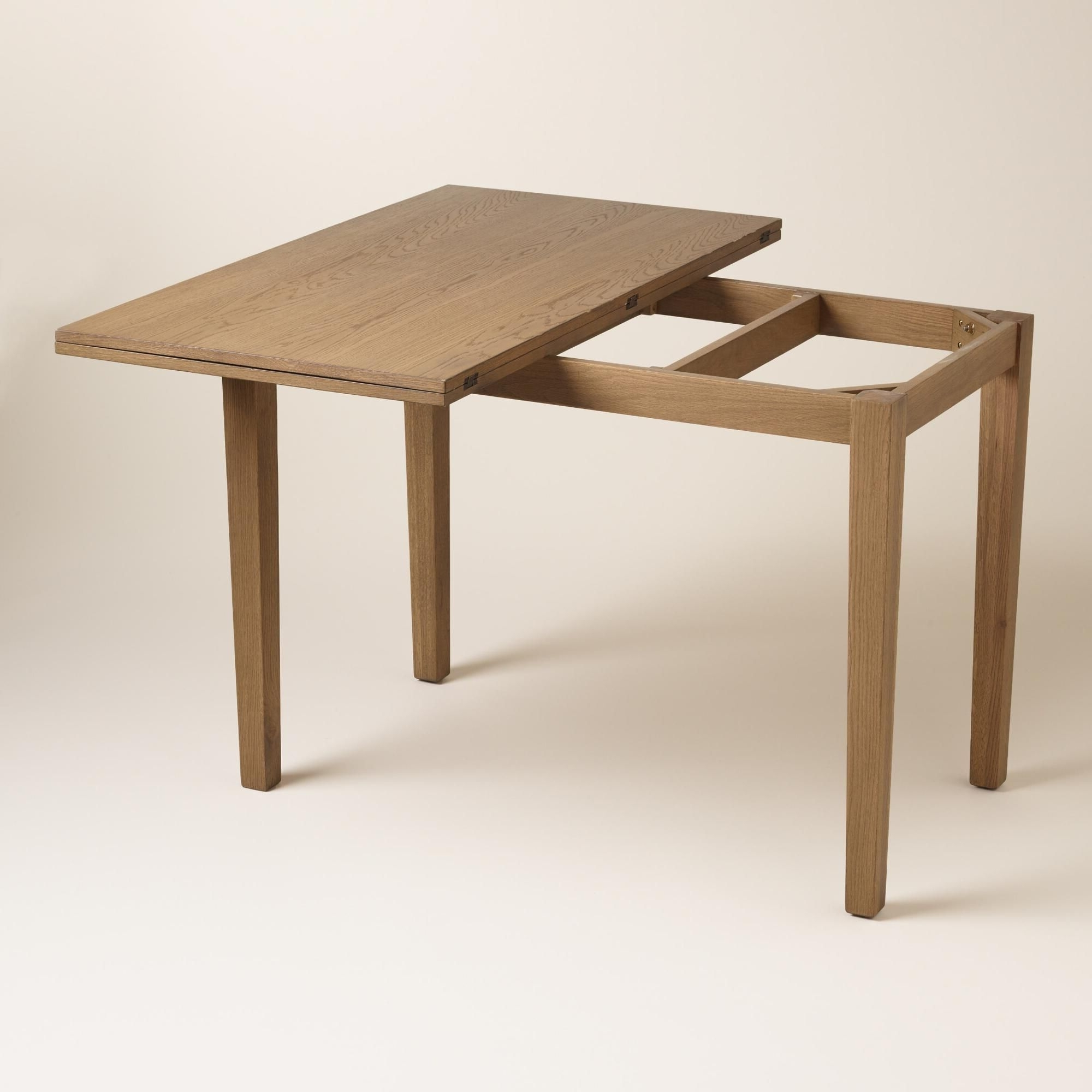 Best And Newest Flip Top Oak Dining Tables Pertaining To Crafted Of Solid Oak With Oak Veneers And A Light Oak Finish, Our (View 13 of 25)