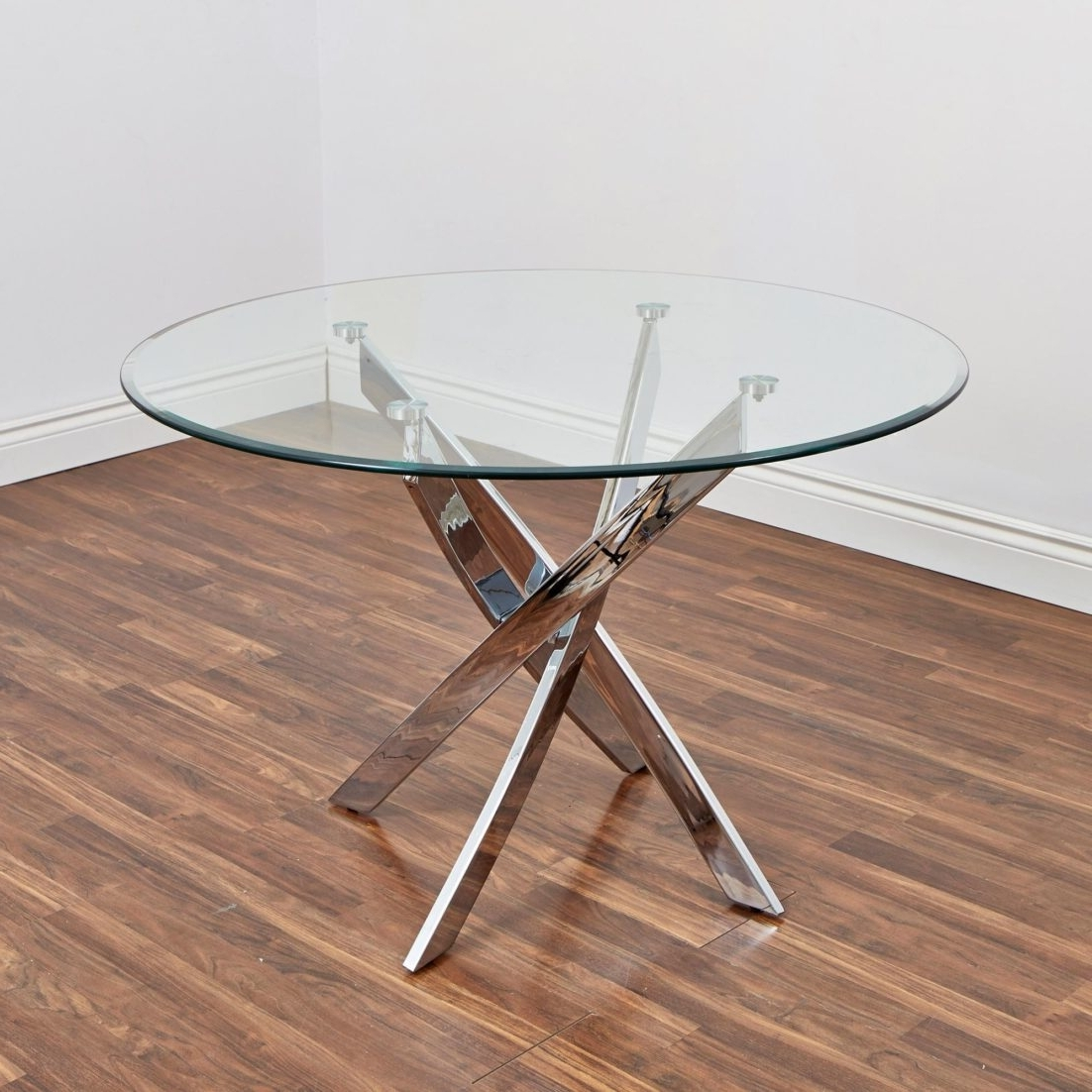 Best And Newest Glass Dining Table Bradford Carol Gldining Clear Silver Kitchen Throughout Bradford Dining Tables (View 5 of 25)