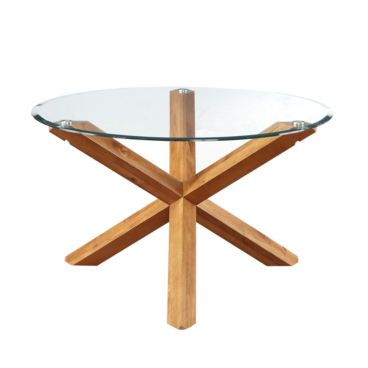 Best And Newest Glass Dining Tables With Oak Legs With Regard To Miso Solid Oak And Glass Dining Table (View 12 of 25)