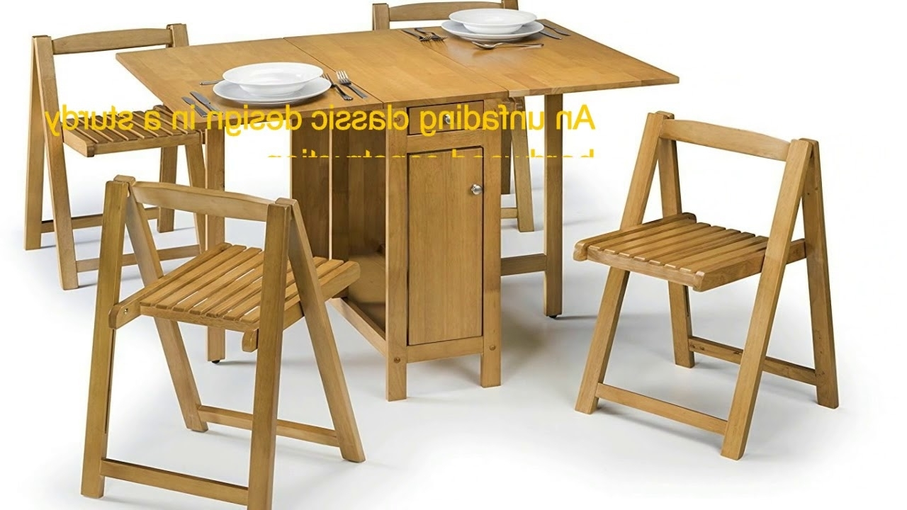 Best And Newest Julian Bowen Savoy Compact Dining Set – Light Oak Finish – Youtube Within Compact Folding Dining Tables And Chairs (View 23 of 25)