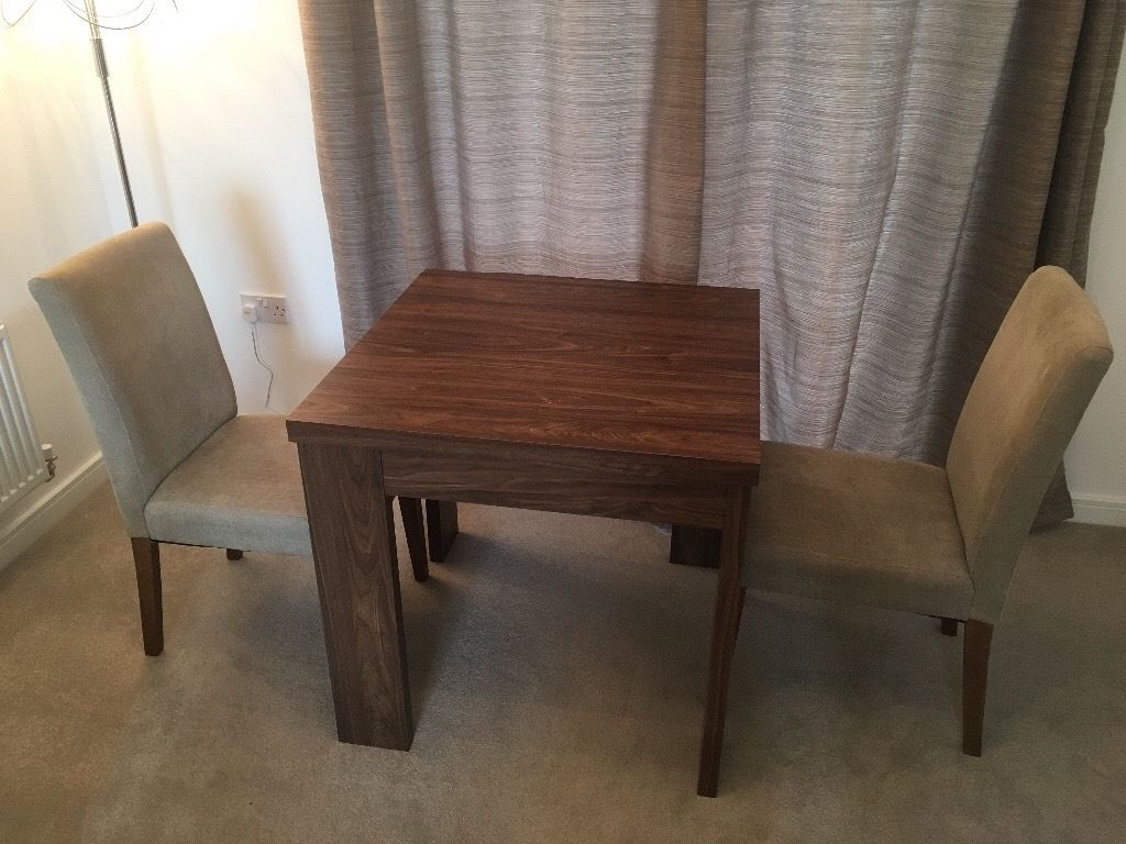 Best And Newest Logan 6 Piece Dining Sets With Next Logan Walnut Folding Dining Table And Two Chairs (View 24 of 25)