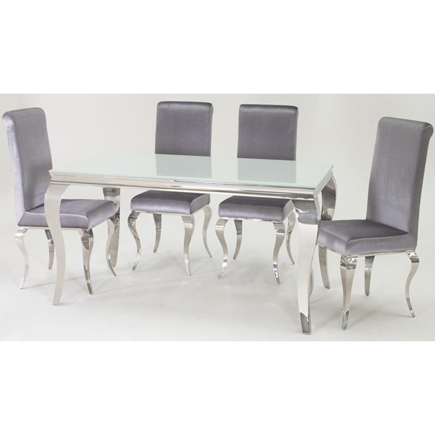 Best And Newest Louis Dining Table In White With 6 Chairs (200Cm) – Living & Dining With Regard To White Dining Tables And 6 Chairs (Gallery 22 of 25)