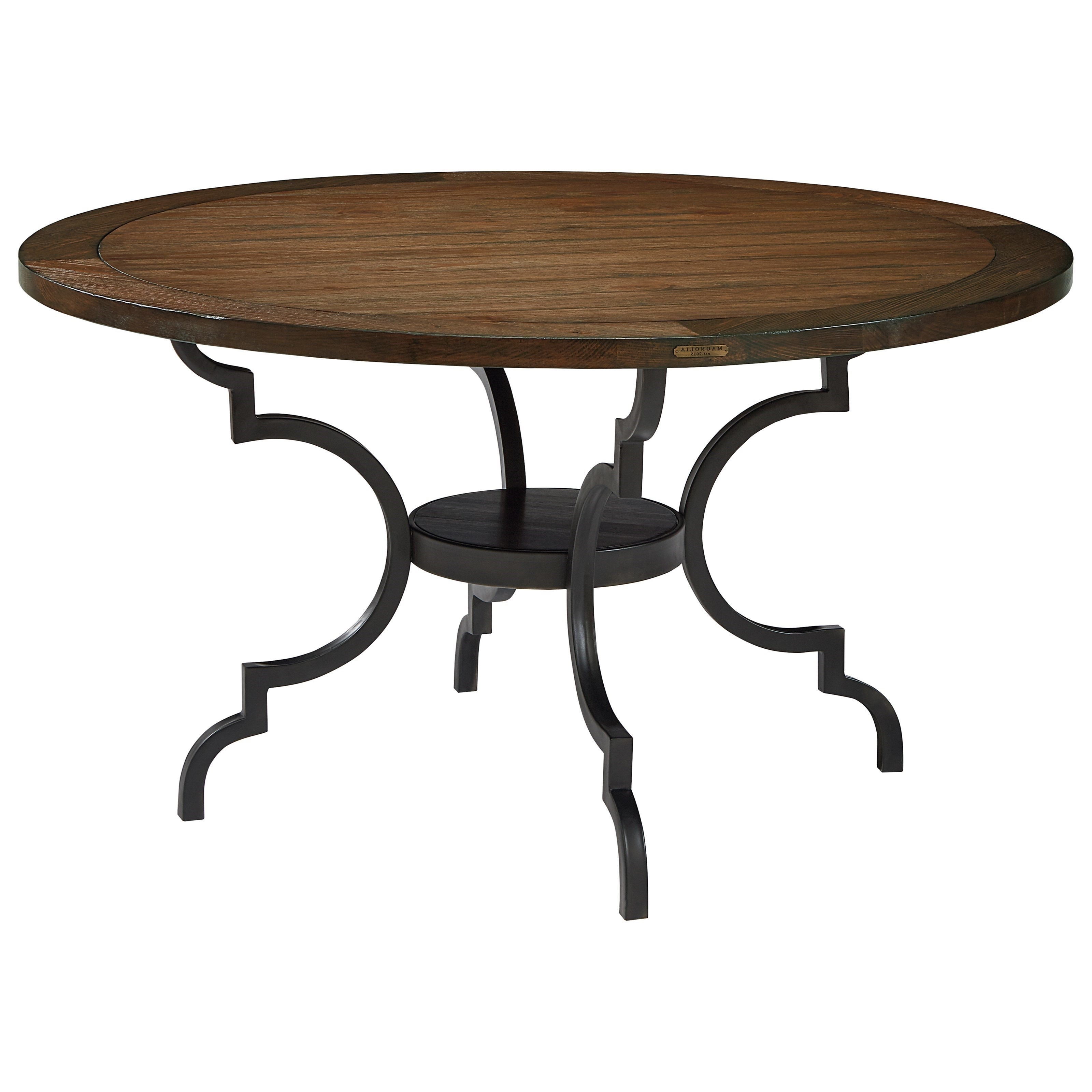 Best And Newest Magnolia Home Breakfast Round Black Dining Tables Intended For Magnolia Homejoanna Gaines French Inspired Breakfast Table (View 2 of 25)