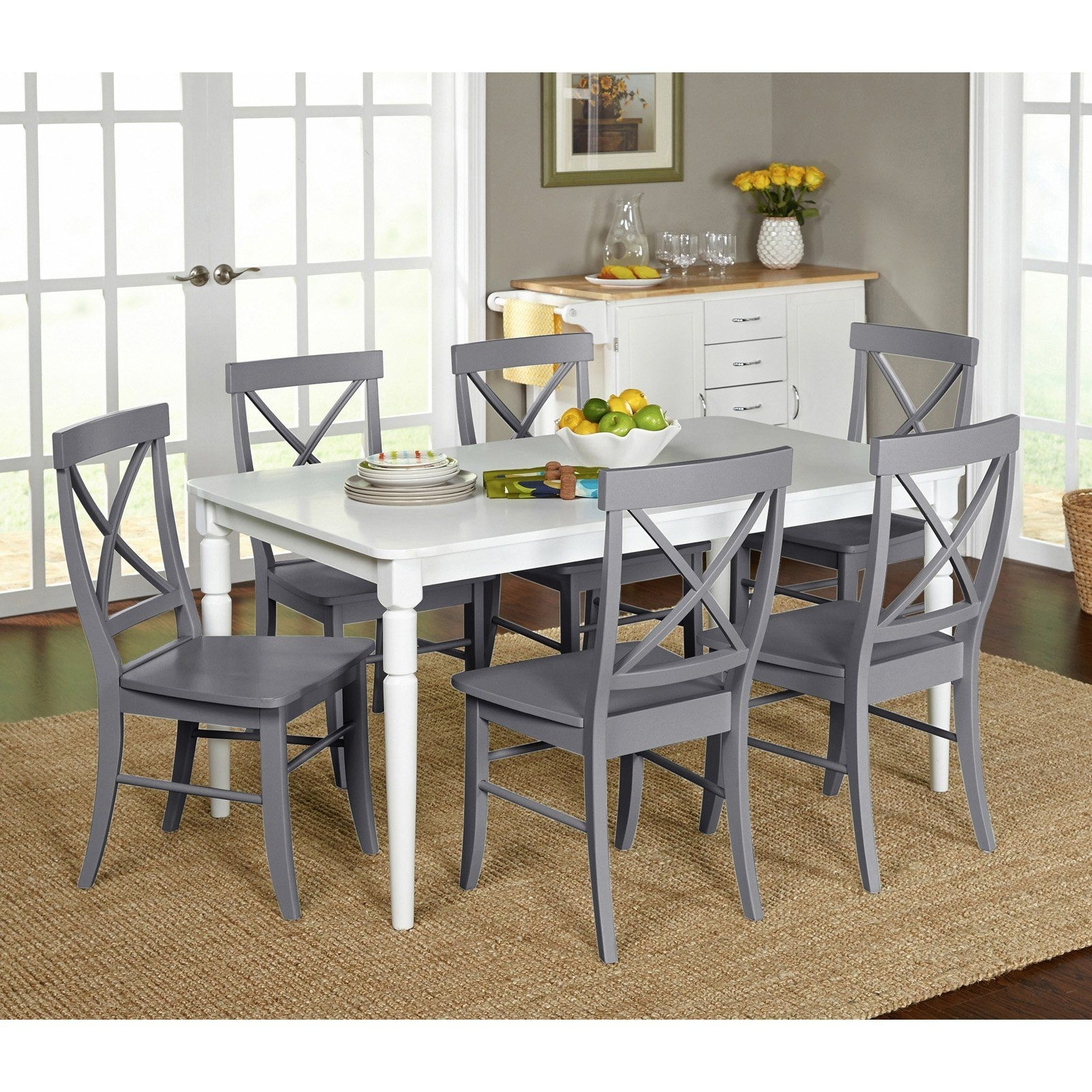 Best And Newest Market 7 Piece Dining Sets With Side Chairs Intended For Target Marketing Systems Albury 7 Piece Dining Table Set – 75127Gry (Gallery 1 of 25)