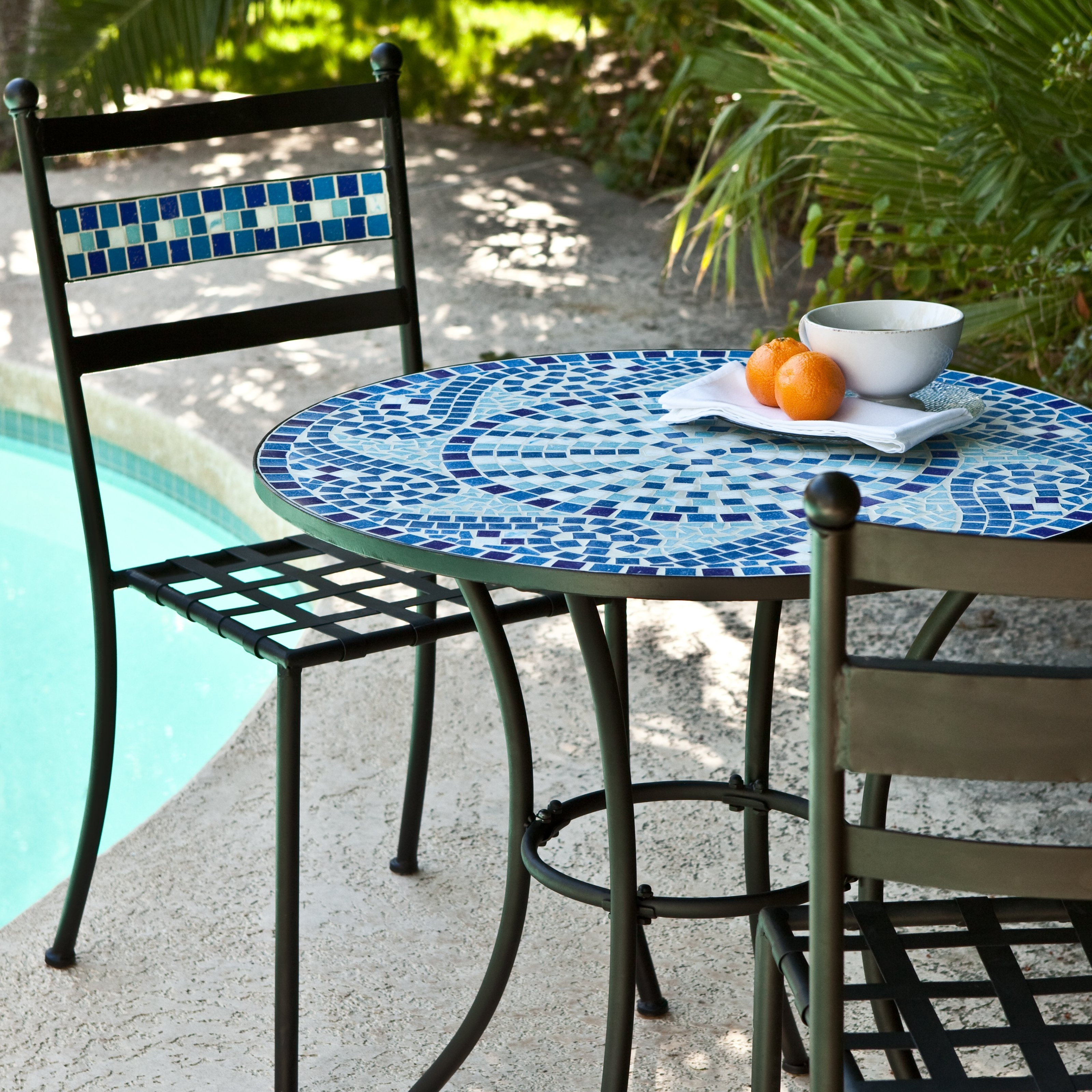 Best And Newest Mosaic Dining Tables For Sale Regarding Coral Coast Marina Mosaic Bistro Set (Gallery 17 of 25)