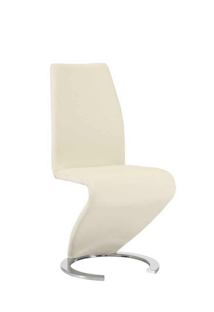 Best And Newest New Design Cream Z Dining Chairs Faux Leather – Homegenies Within Cream Faux Leather Dining Chairs (Gallery 24 of 25)