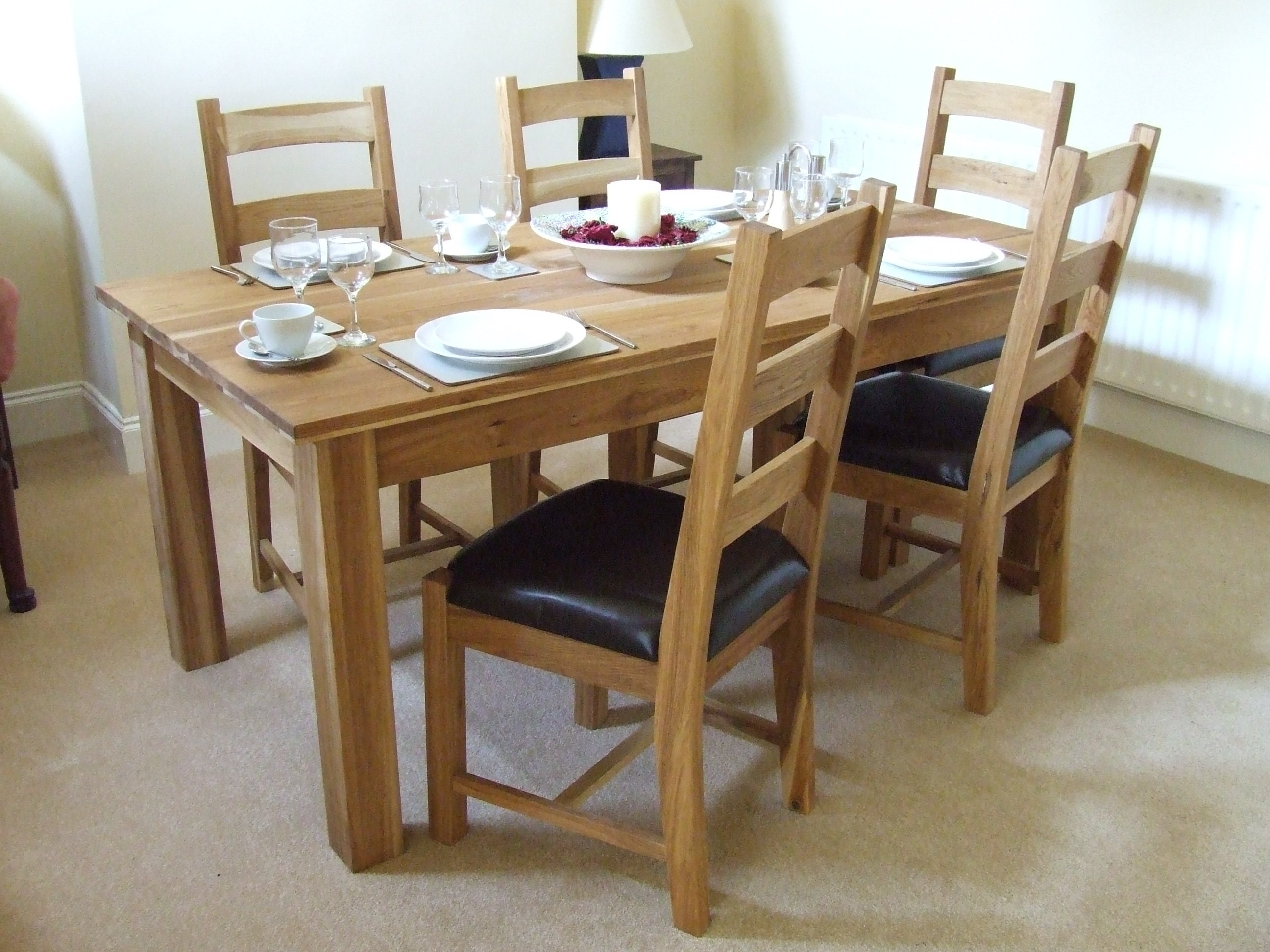Best And Newest Oak Dining Tables Sets With Dinning Room (View 4 of 25)