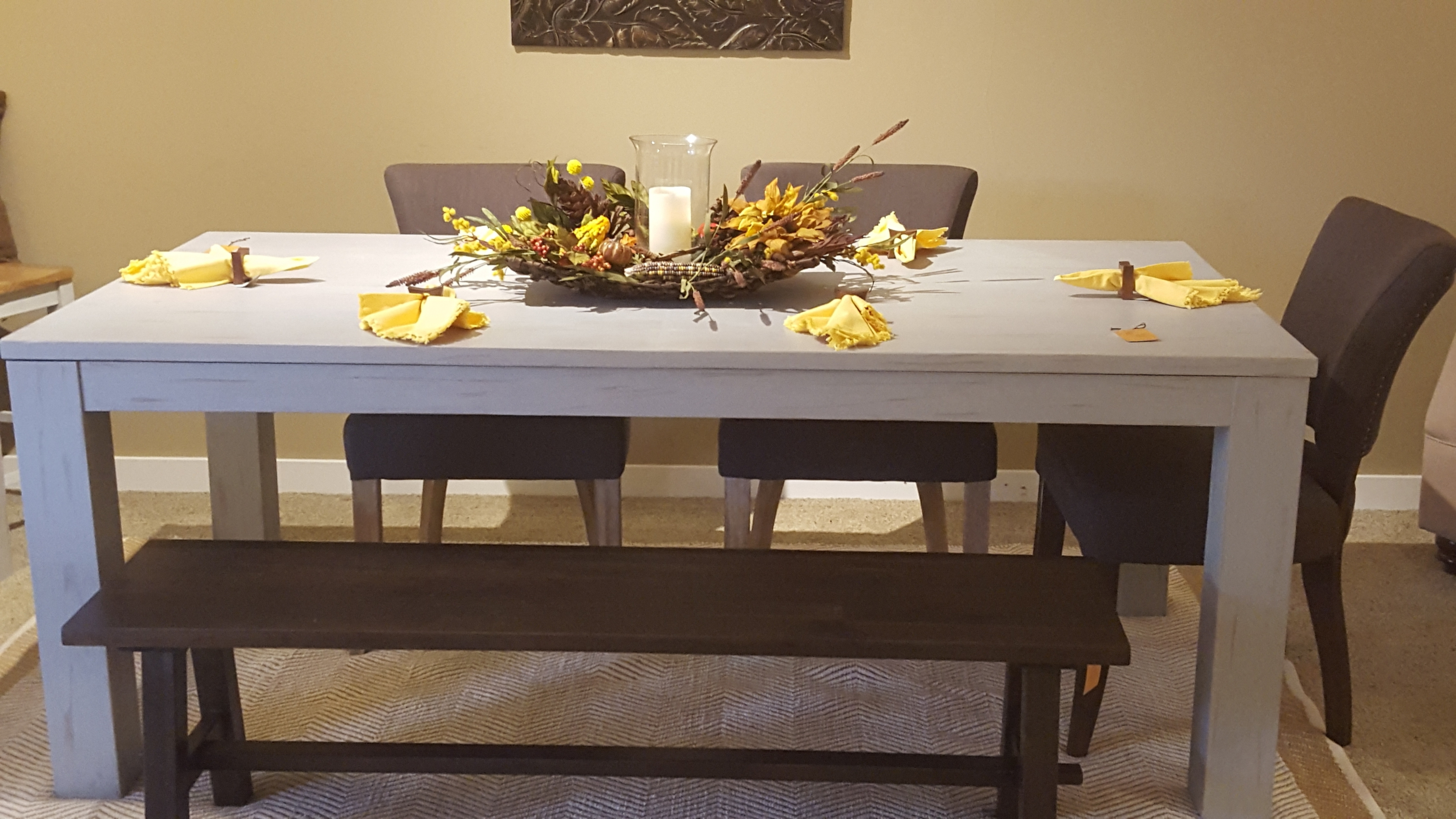Best And Newest Paris Dining Tables In Custom Painted Paris Grey Dining Table For Grey Dining Table Classy (View 3 of 25)