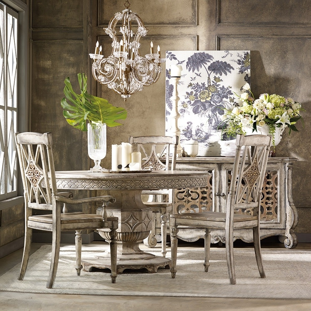 Best And Newest Paris Dining Tables Inside Chatelet Wood Round Dining Table In Paris Vintage (View 11 of 25)